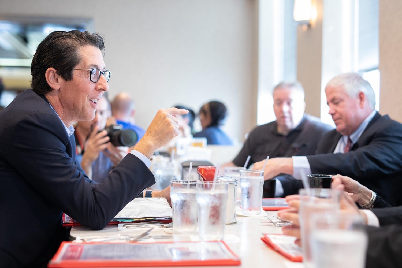 "<a href=""https://filesource.wostreaming.net/commonwealthofpa/photo/17386_treasurer_retirement_dz_018.jpg"" target=""_blank"">⇣Download Photo<br></a>Philadelphia, PA  Pennsylvania Treasurer Joe Torsella discussed the proposed Keystone Saves Auto-IRA program at the Dining Car in Philadelphia.   Pennsylvania Treasurer Joe Torsella, Senator Art Haywood and Representative Mike Driscoll today met with Nancy Morozin, owner of the Dining Car in Philadelphia, to discuss the proposed Keystone Saves auto-IRA program. Friday September, 20 2019"