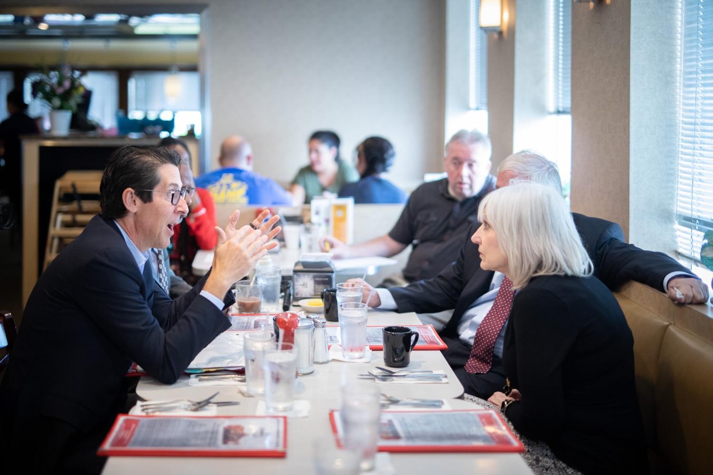 "<a href=""https://filesource.wostreaming.net/commonwealthofpa/photo/17386_treasurer_retirement_dz_024.jpg"" target=""_blank"">⇣Download Photo<br></a>Philadelphia, PA Pennsylvania Treasurer Joe Torsella discussed the proposed Keystone Saves Auto-IRA program at the Dining Car in Philadelphia.  Pennsylvania Treasurer Joe Torsella, Senator Art Haywood and Representative Mike Driscoll today met with Nancy Morozin, owner of the Dining Car in Philadelphia, to discuss the proposed Keystone Saves auto-IRA program. Friday September, 20 2019"
