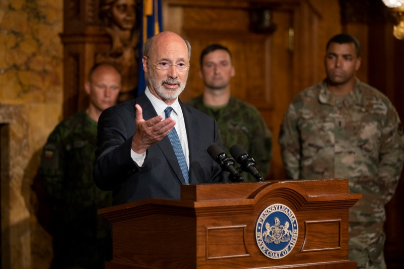 "<a href=""https://filesource.wostreaming.net/commonwealthofpa/photo/17406_GOV_Poland_Lithuania_NK_001.JPG"" target=""_blank"">⇣ Download Photo<br></a>Governor Tom Wolf outlines his plans for a trip to Lithuania and Poland inside the Governor's Reception Room at the State Capitol building in Harrisburg on Friday, September 6, 2019."