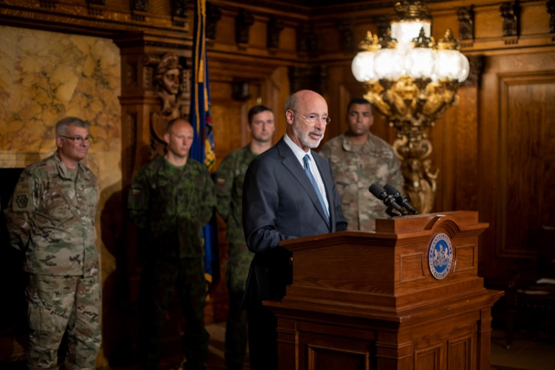 "<a href=""https://filesource.wostreaming.net/commonwealthofpa/photo/17406_GOV_Poland_Lithuania_NK_004.JPG"" target=""_blank"">⇣ Download Photo<br></a>Governor Tom Wolf outlines his plans for a trip to Lithuania and Poland inside the Governor's Reception Room at the State Capitol building in Harrisburg on Friday, September 6, 2019."