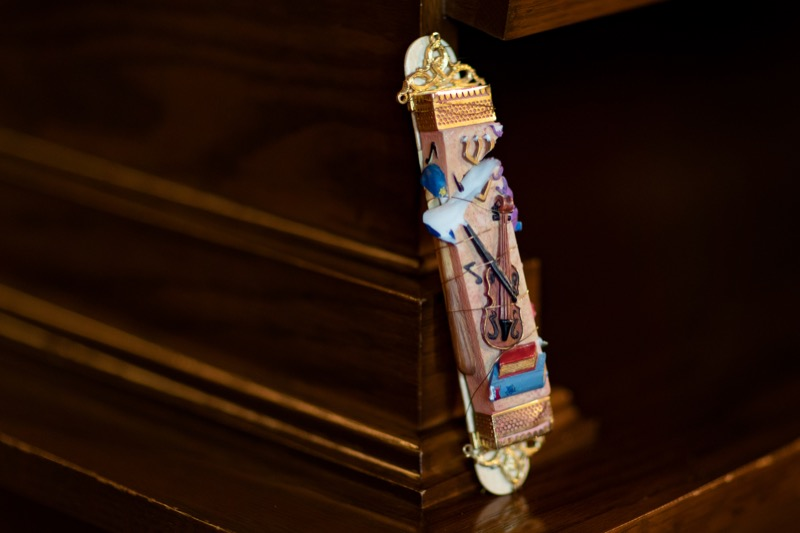 "<a href=""https://filesource.wostreaming.net/commonwealthofpa/photo/17406_GOV_Poland_Lithuania_NK_005.JPG"" target=""_blank"">⇣ Download Photo<br></a>A mezuzah damaged at the Tree of Life shooting is pictured inside the Governor's Reception Room at the State Capitol building in Harrisburg on Friday, September 6, 2019. Governor Tom Wolf will carry the mezuzah on his trip abroad to the Paneriai memorial in Lithuania and Auschwitz-Birkenau in Poland."