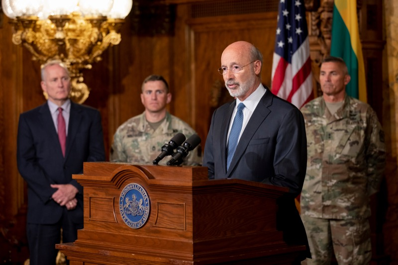 "<a href=""https://filesource.wostreaming.net/commonwealthofpa/photo/17406_GOV_Poland_Lithuania_NK_006.JPG"" target=""_blank"">⇣ Download Photo<br></a>Governor Tom Wolf outlines his plans for a trip to Lithuania and Poland inside the Governor's Reception Room at the State Capitol building in Harrisburg on Friday, September 6, 2019."