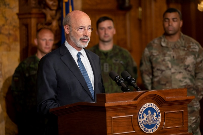 "<a href=""https://filesource.wostreaming.net/commonwealthofpa/photo/17406_GOV_Poland_Lithuania_NK_008.JPG"" target=""_blank"">⇣ Download Photo<br></a>Governor Tom Wolf outlines his plans for a trip to Lithuania and Poland inside the Governor's Reception Room at the State Capitol building in Harrisburg on Friday, September 6, 2019."