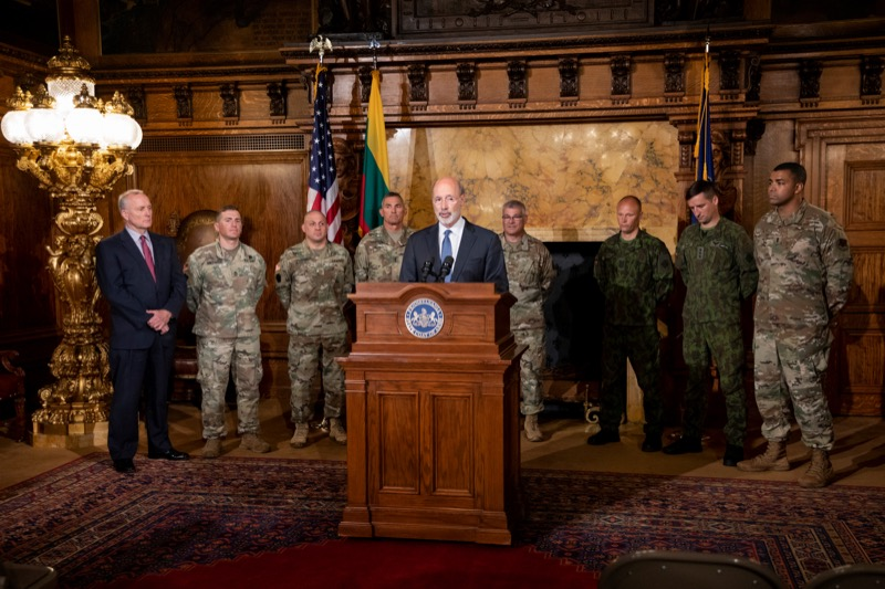 "<a href=""https://filesource.wostreaming.net/commonwealthofpa/photo/17406_GOV_Poland_Lithuania_NK_009.JPG"" target=""_blank"">⇣ Download Photo<br></a>Governor Tom Wolf outlines his plans for a trip to Lithuania and Poland inside the Governor's Reception Room at the State Capitol building in Harrisburg on Friday, September 6, 2019."