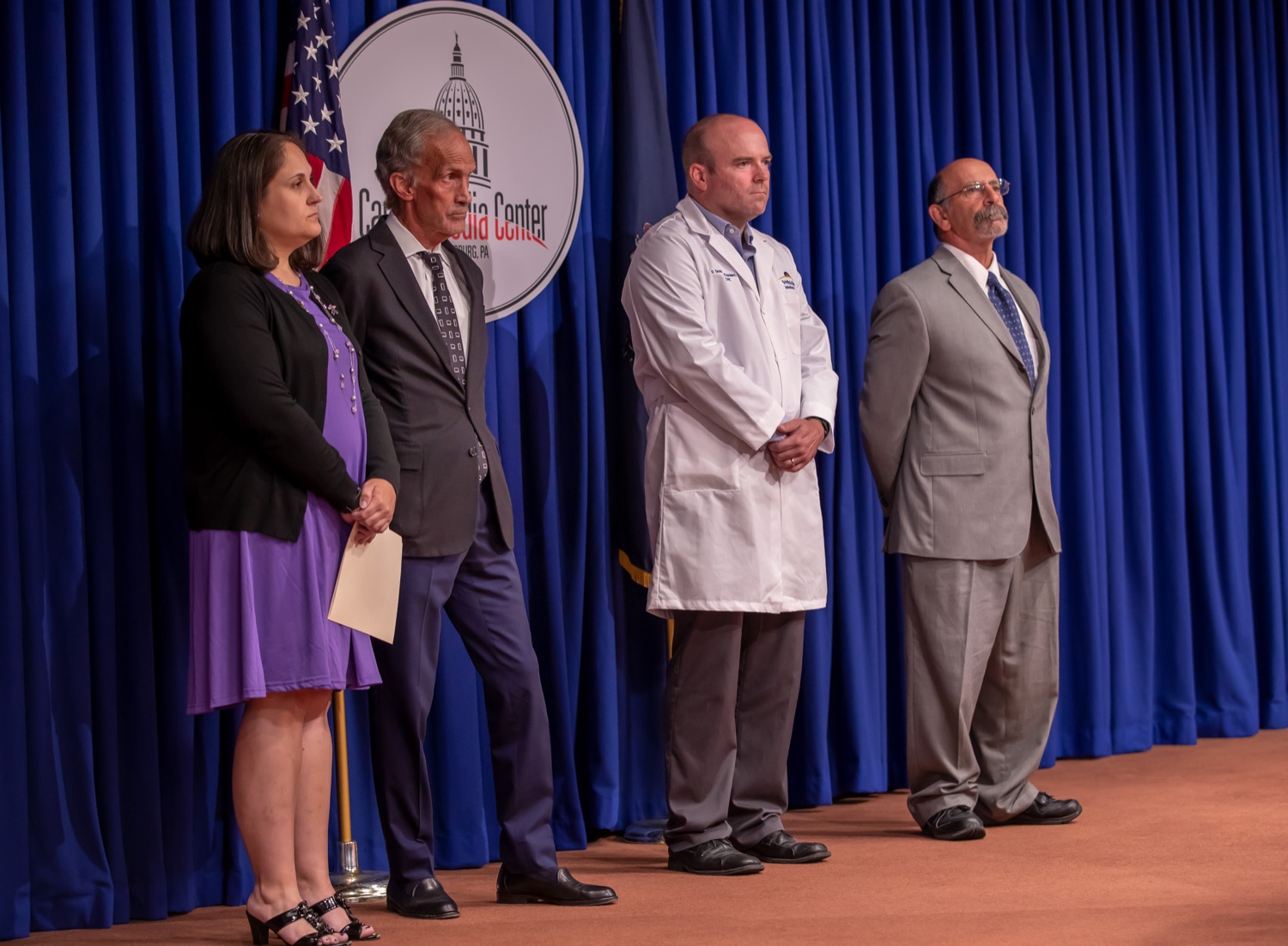 """<a href=""""https://filesource.wostreaming.net/commonwealthofpa/photo/17415_DOH_RXGuidlines_AG_06.jpg"""" target=""""_blank"""">⇣Download Photo<br></a>Harrisburg, PA.  Wolf Administration officials today joined health care providers to announce the latest updated prescribing guideline, Treating Pain in Patients with OUD, as part of the second Stop Overdoses in PA: Get Help Now Week, a statewide initiative to get the overdose reversal medication naloxone to Pennsylvanians and get help for residents suffering from the disease of opioid use disorder (OUD).  September 18, 2019"""