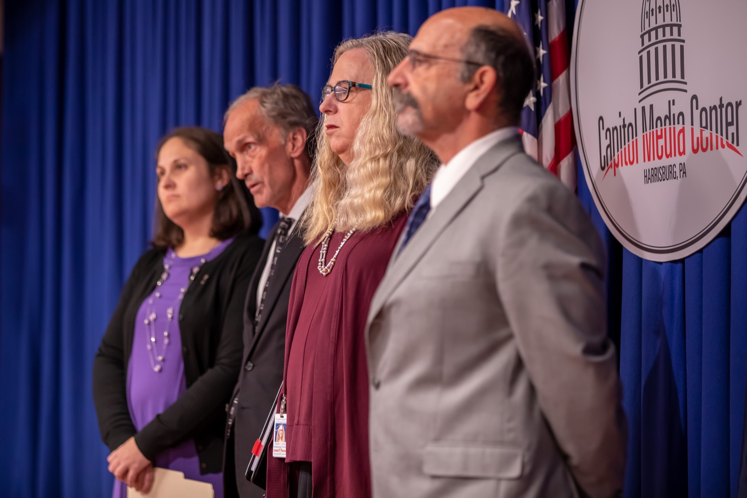 """<a href=""""https://filesource.wostreaming.net/commonwealthofpa/photo/17415_DOH_RXGuidlines_AG_11.jpg"""" target=""""_blank"""">⇣Download Photo<br></a>Harrisburg, PA.  Wolf Administration officials today joined health care providers to announce the latest updated prescribing guideline, Treating Pain in Patients with OUD, as part of the second Stop Overdoses in PA: Get Help Now Week, a statewide initiative to get the overdose reversal medication naloxone to Pennsylvanians and get help for residents suffering from the disease of opioid use disorder (OUD).  September 18, 2019"""