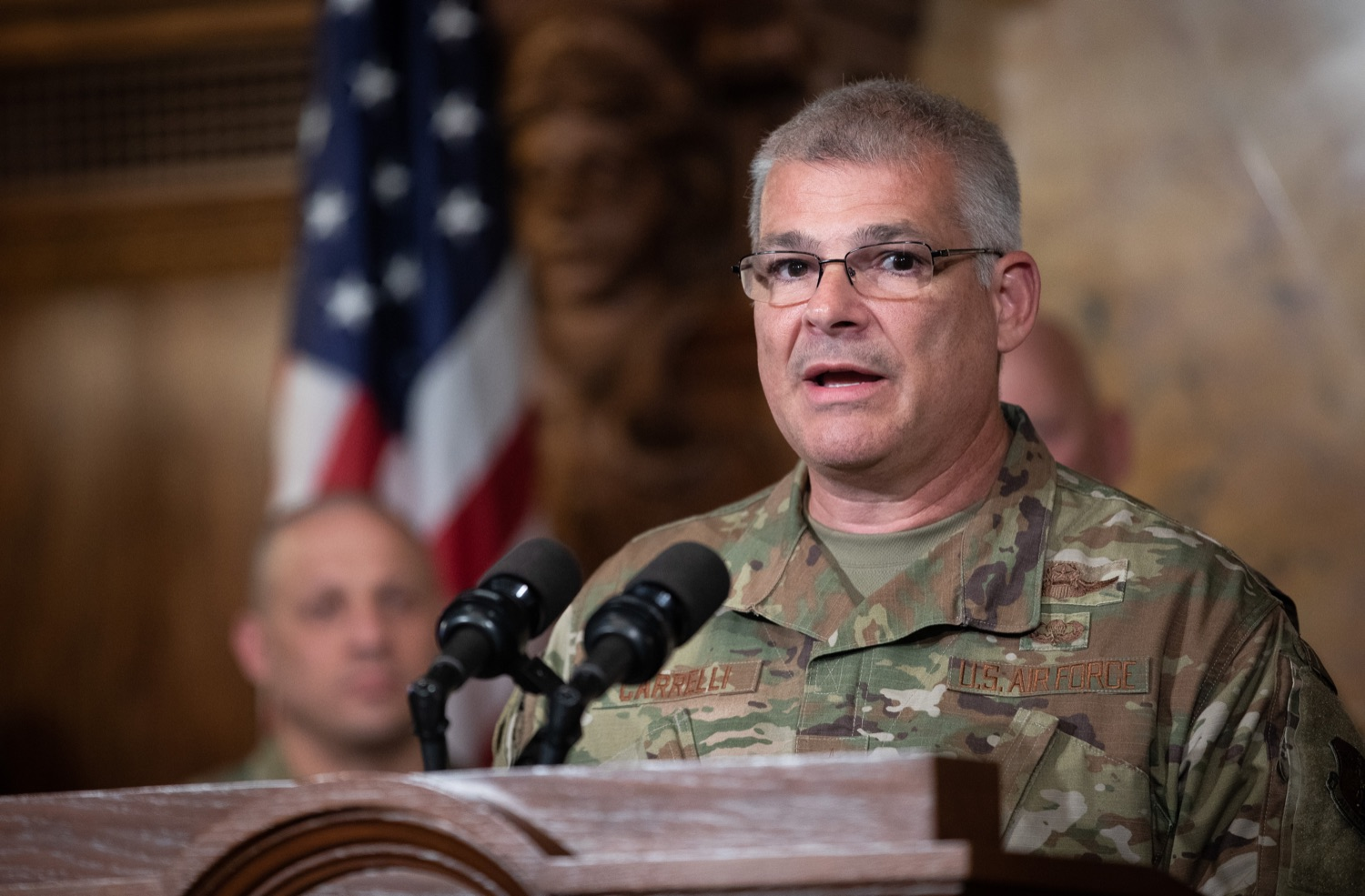 """<a href=""""https://filesource.wostreaming.net/commonwealthofpa/photo/17423_gov_trip_recap_dz_004.jpg"""" target=""""_blank"""">⇣Download Photo<br></a>Harrisburg, PA  Adjutant General Maj. General Tony Carrelli about his recent visit to Lithuania and Poland. Governor Tom Wolf today highlighted the second half of his trip abroad, including visiting with more than 500 PA National Guard (PNG) troops in Poland, and honoring the Tree of Life synagogue victims at the Auschwitz-Birkenau Memorial. Tuesday, September 17, 2019"""