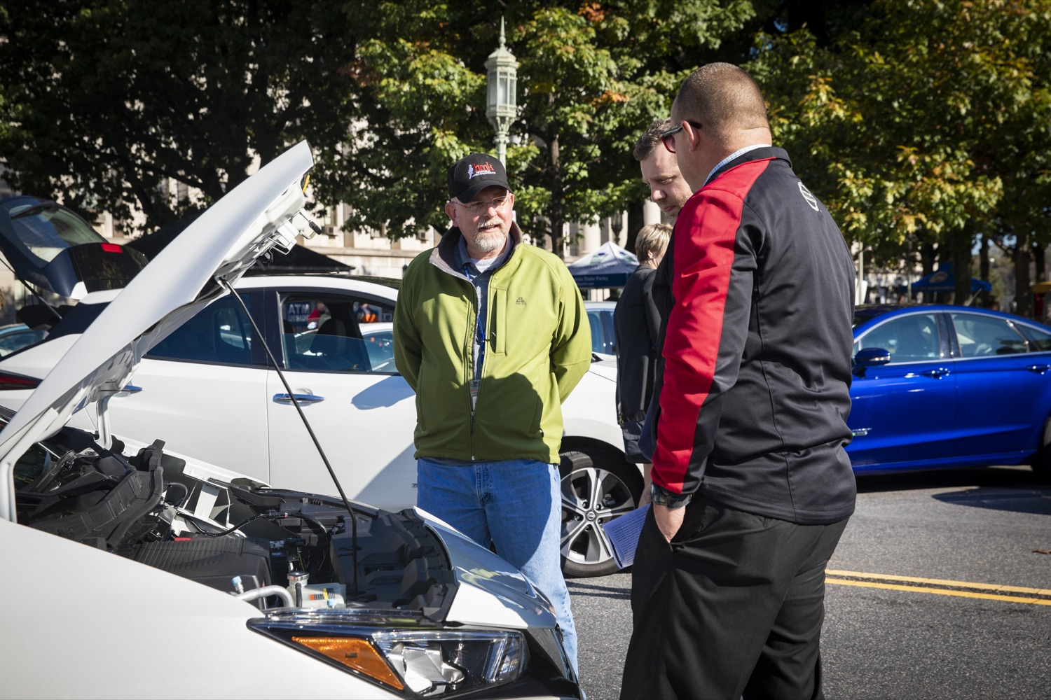 """<a href=""""https://filesource.wostreaming.net/commonwealthofpa/photo/17449_DGS_DRIVE_ELECTRIC_CZ_13.JPG"""" target=""""_blank"""">⇣Download Photo<br></a>Members of the public are invited to test out electric and hybrid vehicles during a Ride & Drive Event at the Capitol Complex on October 23, 2019."""
