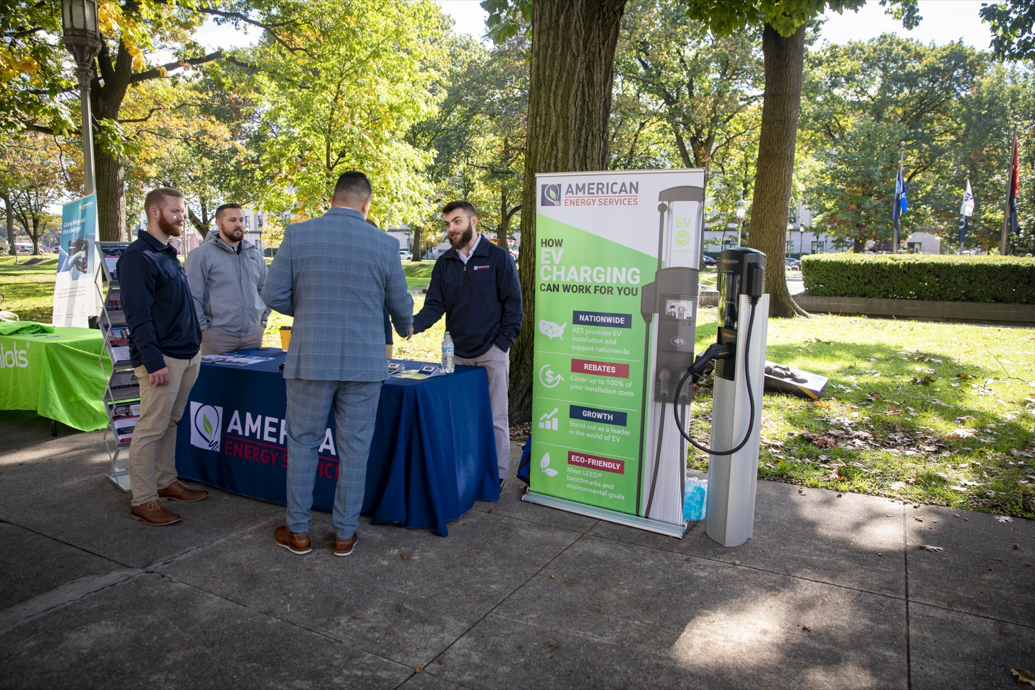 """<a href=""""https://filesource.wostreaming.net/commonwealthofpa/photo/17449_DGS_DRIVE_ELECTRIC_CZ_15.JPG"""" target=""""_blank"""">⇣Download Photo<br></a>Members of the public interact with displays featuring electric and hybrid technology during a Ride & Drive Event at the Capitol Complex on October 23, 2019."""
