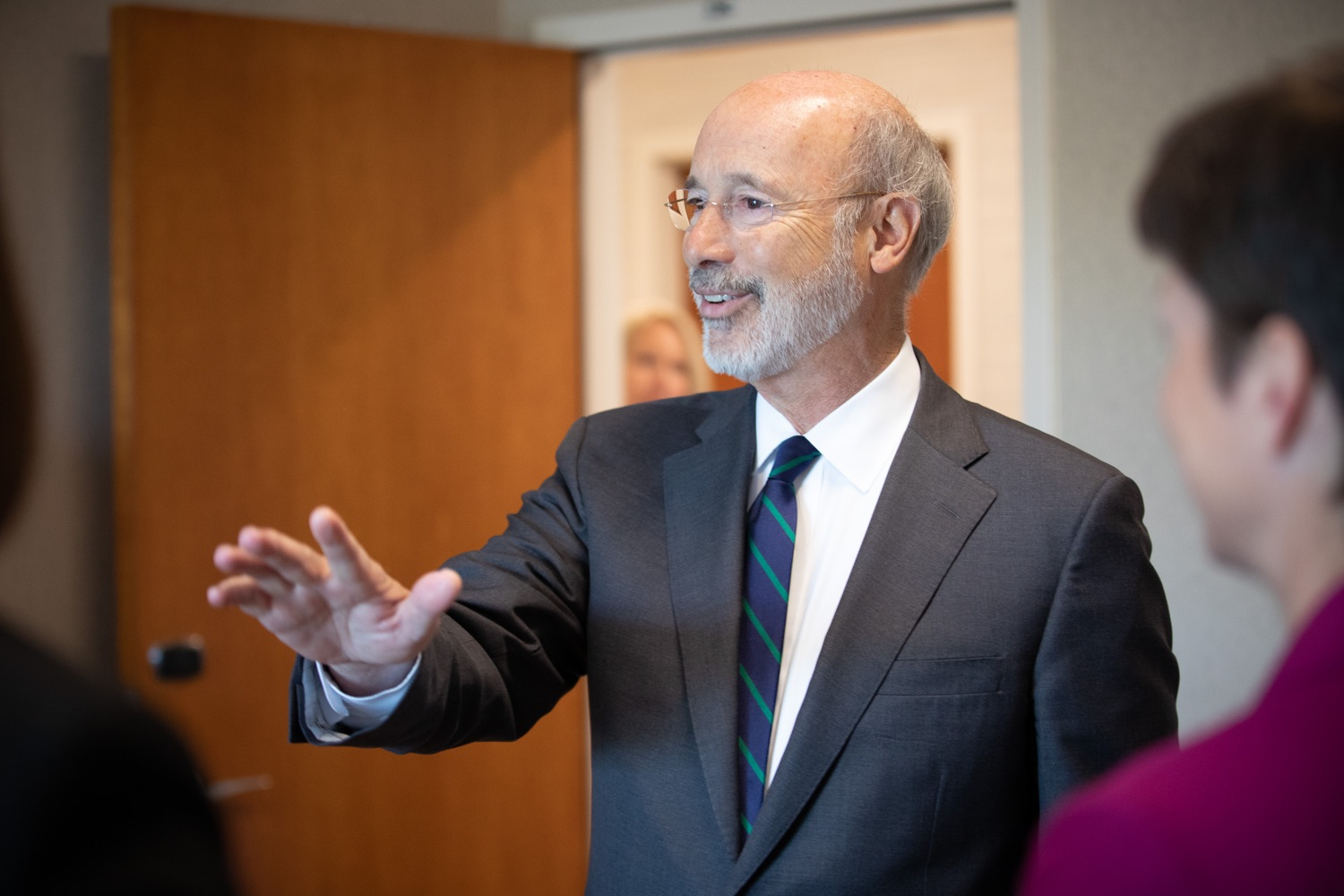 """<a href=""""https://filesource.wostreaming.net/commonwealthofpa/photo/17467_gov_opioids_dz_009.JPG"""" target=""""_blank"""">⇣Download Photo<br></a>Boalsburg, PA  Governor Tom Wolf speaking with summit attendees. Governor Tom Wolf today kicked off his administrations first Opioid Command Center Opioid Summit: Think Globally, Act Locally, which brought together 200 individuals helping their communities fight the opioid crisis, including community organizations, non-profits, schools, health care workers, addiction and recovery specialists, and families affected by the opioid crisis.  Tuesday, October 1, 2019"""