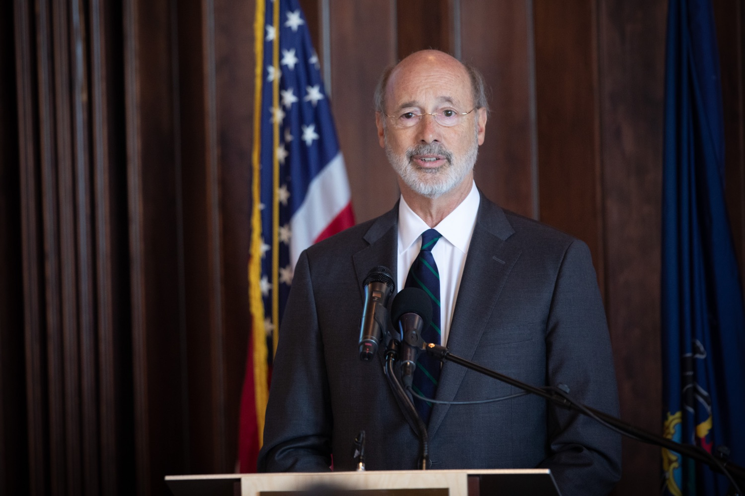 """<a href=""""https://filesource.wostreaming.net/commonwealthofpa/photo/17467_gov_opioids_dz_012.JPG"""" target=""""_blank"""">⇣Download Photo<br></a>Boalsburg, PA  Governor Tom Wolf addressing the summit. Governor Tom Wolf today kicked off his administrations first Opioid Command Center Opioid Summit: Think Globally, Act Locally, which brought together 200 individuals helping their communities fight the opioid crisis, including community organizations, non-profits, schools, health care workers, addiction and recovery specialists, and families affected by the opioid crisis.  Tuesday, October 1, 2019"""