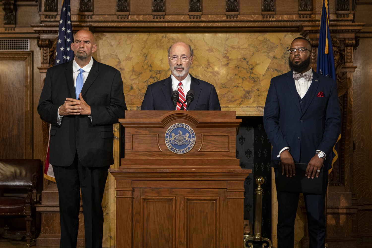 "<a href=""https://filesource.wostreaming.net/commonwealthofpa/photo/17468_GOV_BOP_DE_001.jpg"" target=""_blank"">⇣ Download Photo<br></a>Gov. Wolf, Lt. Gov, Pardons Board Provide Update on Pardons Process, Benefit to Those with Marijuana Convictions"
