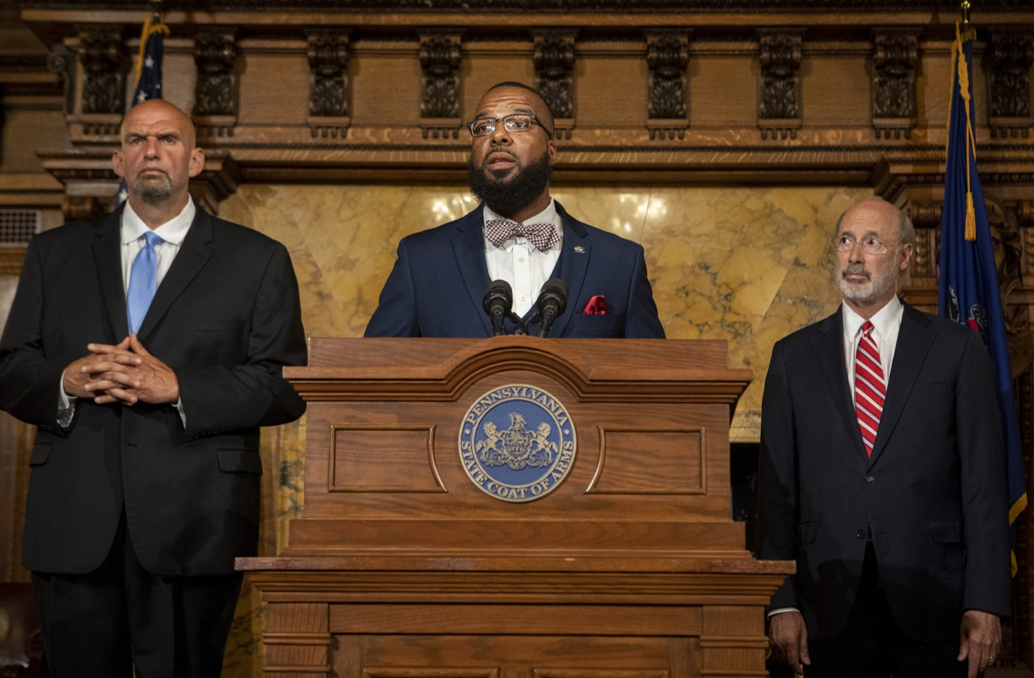 "<a href=""https://filesource.wostreaming.net/commonwealthofpa/photo/17468_GOV_BOP_DE_006.jpg"" target=""_blank"">⇣ Download Photo<br></a>Gov. Wolf, Lt. Gov, Pardons Board Provide Update on Pardons Process, Benefit to Those with Marijuana Convictions"