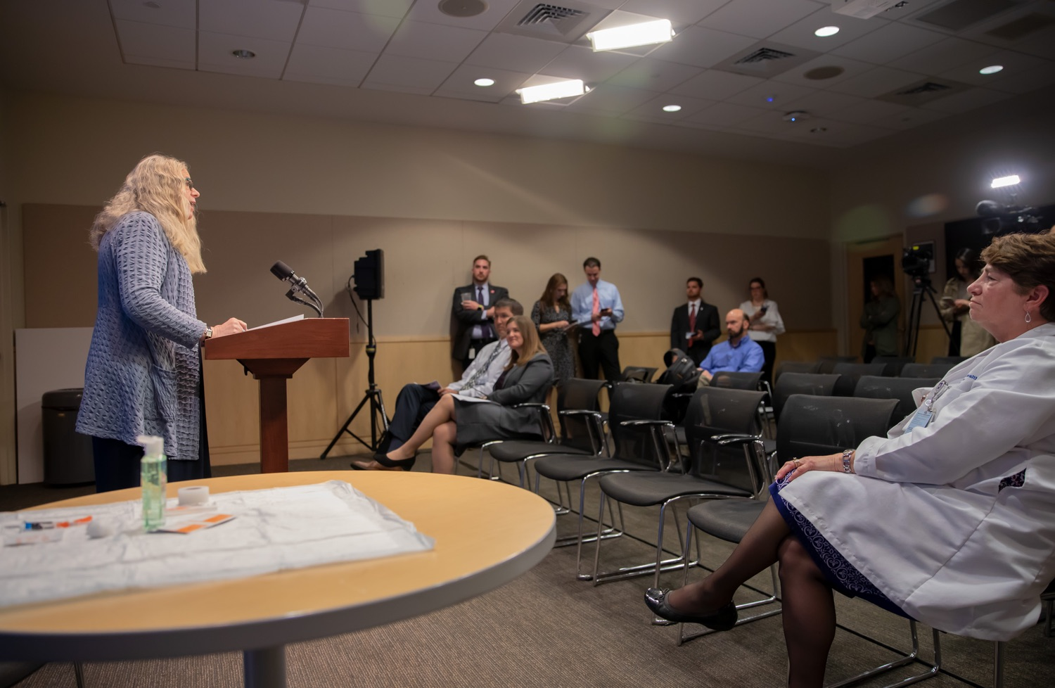 "<a href=""https://filesource.wostreaming.net/commonwealthofpa/photo/17471_DOH_FluSeason_AG_04.jpg"" target=""_blank"">⇣ Download Photo<br></a>Harrisburg, PA.  At an event at the Penn State Health Milton S. Hershey Medical Center today, the Department of Health reminded residents that it is time to get their flu vaccine, as flu season officially starts this month and runs until May. Secretary of Health Dr. Rachel Levine encouraged residents to get their flu vaccine before the end of October and offered important tips to stay healthy during flu season.  October 8, 2019."