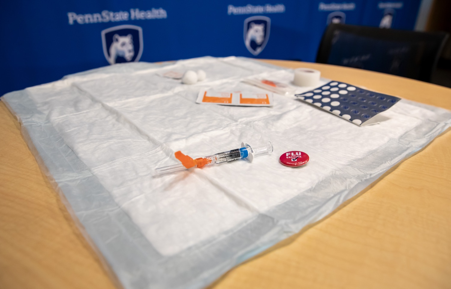 "<a href=""https://filesource.wostreaming.net/commonwealthofpa/photo/17471_DOH_FluSeason_AG_05.jpg"" target=""_blank"">⇣ Download Photo<br></a>Harrisburg, PA.  At an event at the Penn State Health Milton S. Hershey Medical Center today, the Department of Health reminded residents that it is time to get their flu vaccine, as flu season officially starts this month and runs until May. Secretary of Health Dr. Rachel Levine encouraged residents to get their flu vaccine before the end of October and offered important tips to stay healthy during flu season.  October 8, 2019."