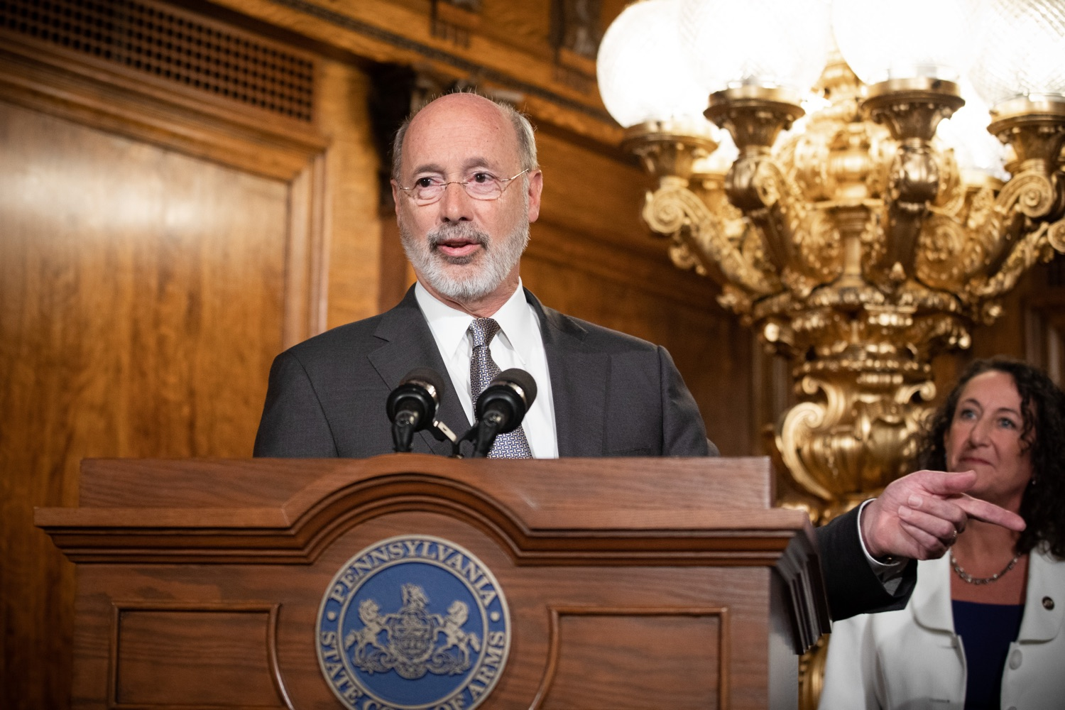 "<a href=""https://filesource.wostreaming.net/commonwealthofpa/photo/17554_gov_voter_reform_bill_dz_014.jpg"" target=""_blank"">⇣ Download Photo<br></a>Harrisburg, PA  Governor Tom Wolf speaks at the Election Reform Bill signing. Governor Wolf made voting more convenient and secure by signing Act 77 of 2019, the most significant improvement to Pennsylvanias elections in more than 80 years. The bipartisan compromise legislation takes effect for the April 2020 primary election and makes Pennsylvania a national leader with voter-friendly election reforms."