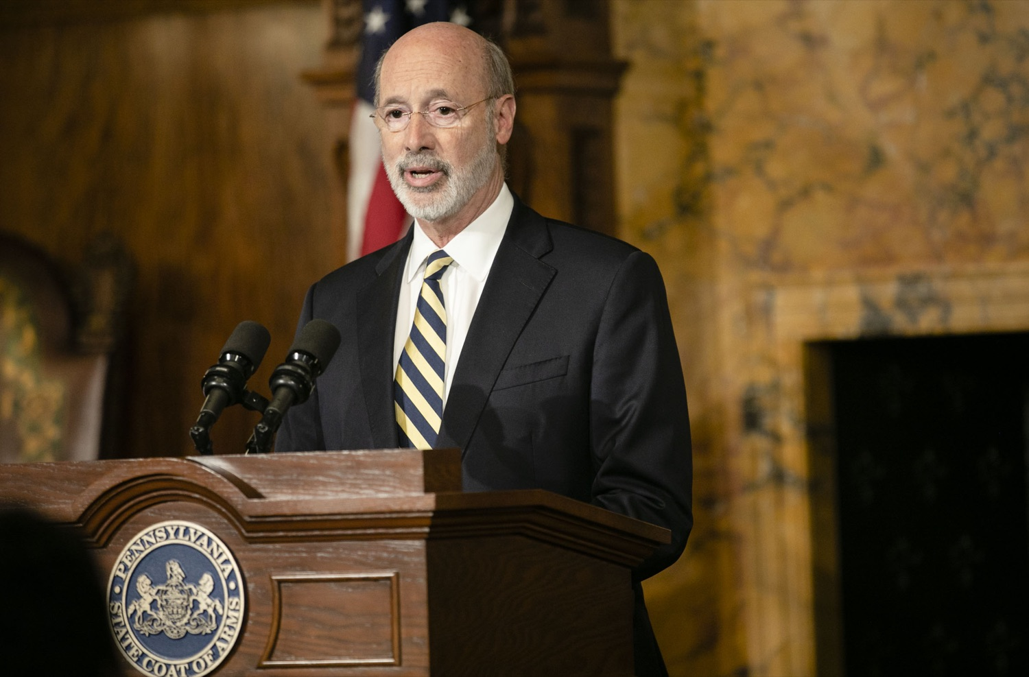 "<a href=""https://filesource.wostreaming.net/commonwealthofpa/photo/17564_GOV_aca_amb_005.jpg"" target=""_blank"">⇣ Download Photo<br></a>Governor Tom Wolf and Insurance Commissioner Jessica Altman advised Pennsylvanians that now is the time to buy health insurance on the federal exchange, healthcare.gov, as open enrollment continues for Affordable Care Act (ACA) plans through Dec. 15. Consumers have more options in Pennsylvania, and many will find they qualify for subsidies. November 7, 2019. Harrisburg, PA."