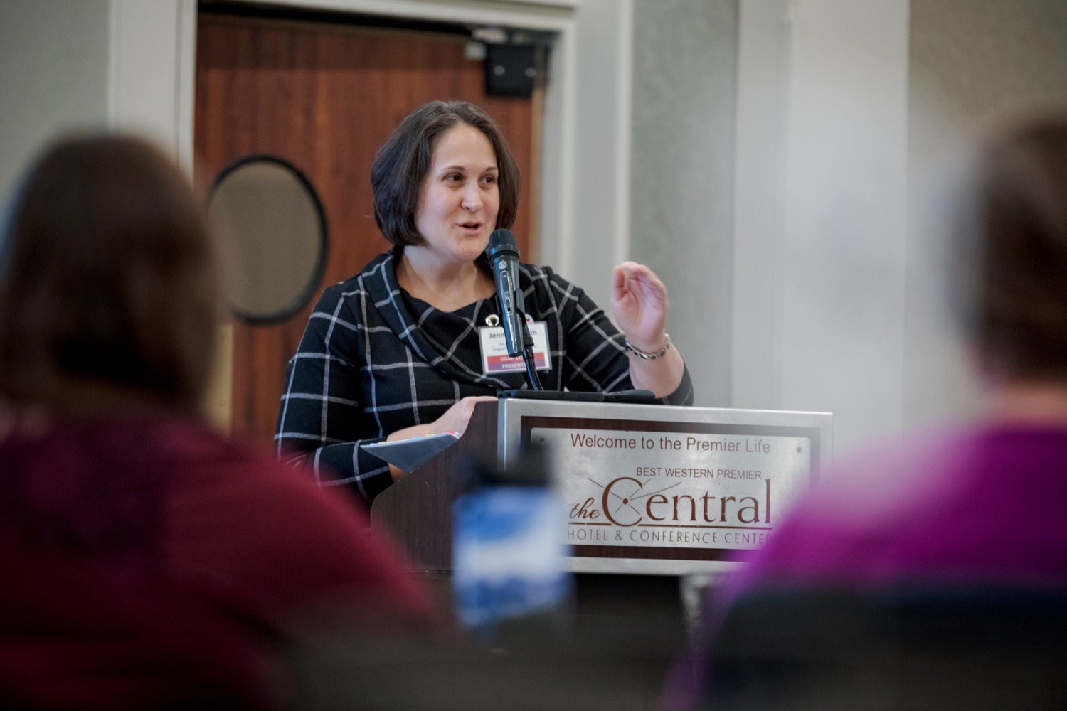 "<a href=""https://filesource.wostreaming.net/commonwealthofpa/photo/17596_DDAP_Psychostimulants_NK_010.JPG"" target=""_blank"">⇣ Download Photo<br></a>Department of Drug and Alcohol Program Secretary Jen Smith speaks during a symposium addressing the rising trend of stimulant usage across the commonwealth, at the Best Western Premier in Harrisburg on Tuesday, November 19, 2019."