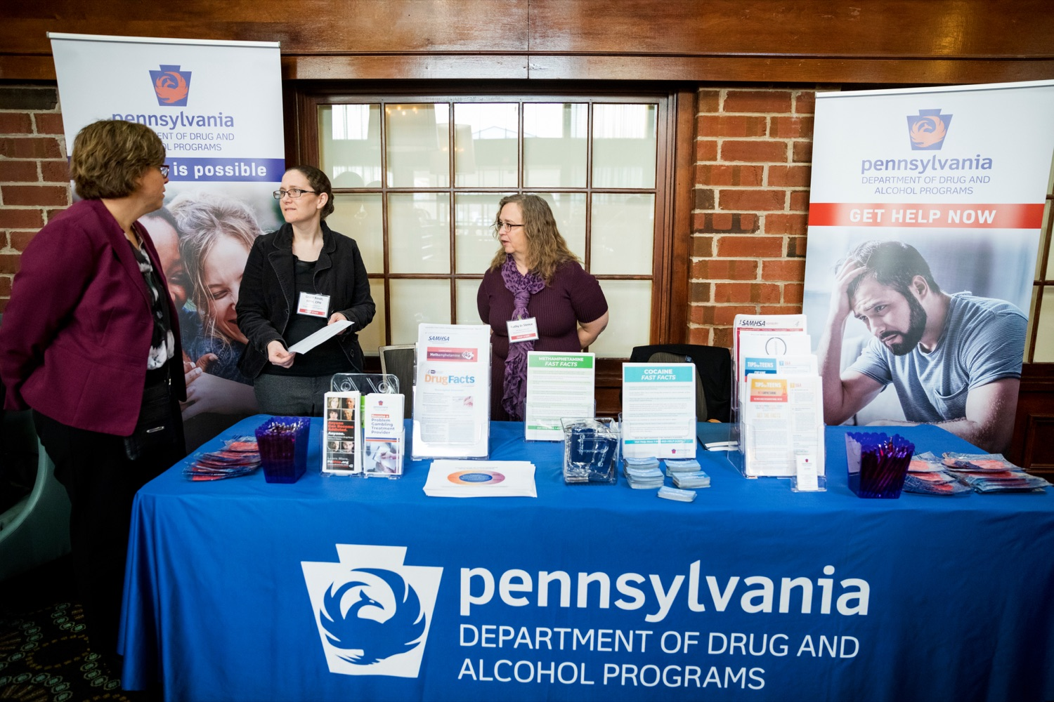 "<a href=""https://filesource.wostreaming.net/commonwealthofpa/photo/17596_DDAP_Psychostimulants_NK_012.JPG"" target=""_blank"">⇣ Download Photo<br></a>From left;  Department of Drug and Alcohol Program's Kelly Frizen, Sadie Grace Kindt, and Kathy Jo Stence during a symposium addressing the rising trend of stimulant usage across the commonwealth, at the Best Western Premier in Harrisburg on Tuesday, November 19, 2019."