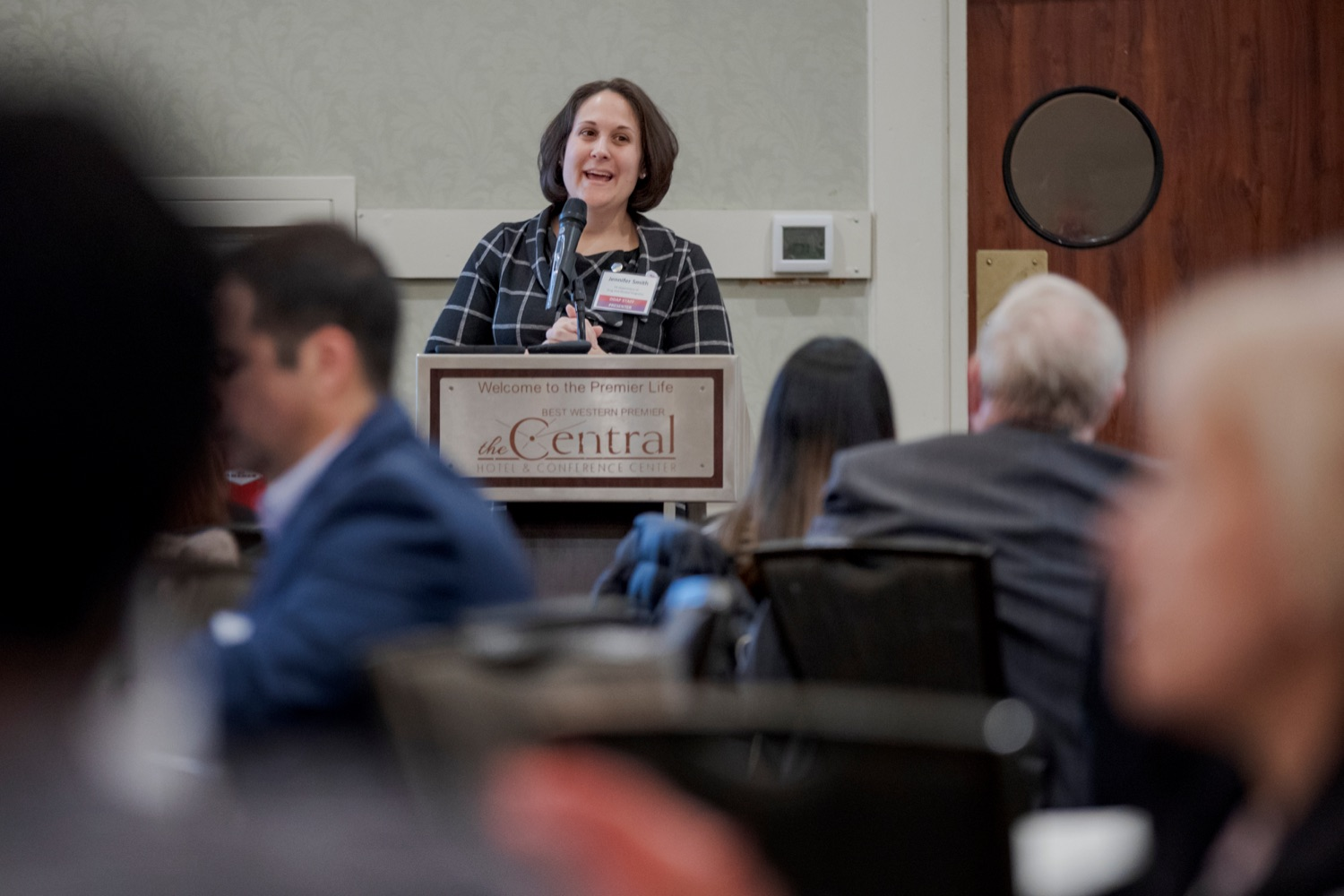 "<a href=""https://filesource.wostreaming.net/commonwealthofpa/photo/17596_DDAP_Psychostimulants_NK_013.JPG"" target=""_blank"">⇣ Download Photo<br></a>Department of Drug and Alcohol Program Secretary Jen Smith speaks during a symposium addressing the rising trend of stimulant usage across the commonwealth, at the Best Western Premier in Harrisburg on Tuesday, November 19, 2019."