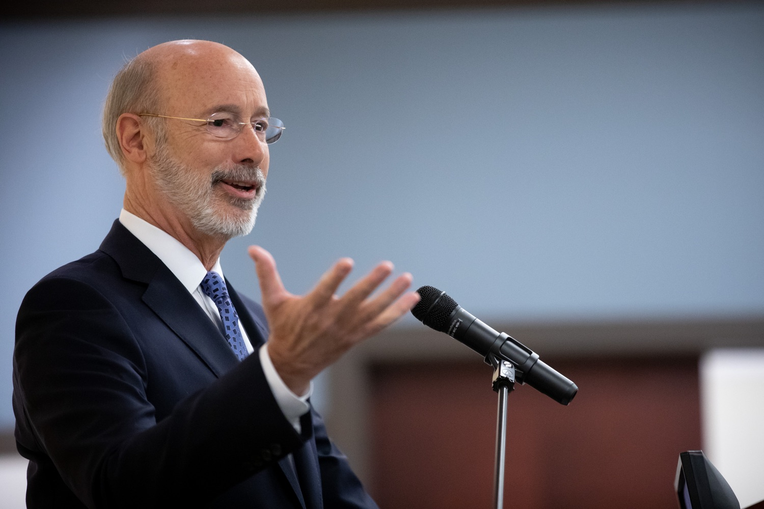 """<a href=""""https://filesource.wostreaming.net/commonwealthofpa/photo/17598_gov_charter_schools_dz_001.jpg"""" target=""""_blank"""">⇣Download Photo<br></a>Pennsylvania Governor Tom Wolf speaks about charter school reform at a meeting of the Pennsylvania Association of School Administrators.  Governor Tom Wolfs commonsense plan to improve the educational quality of charter schools and control rising costs will save nearly $280 million a year, the governor told the Pennsylvania Association of School Administrators today. The governor has a three-part plan to fix Pennsylvanias charter school law which is regarded as one of the worst in the nation.  - Harrisburg, PA. Friday, November 15, 2019."""