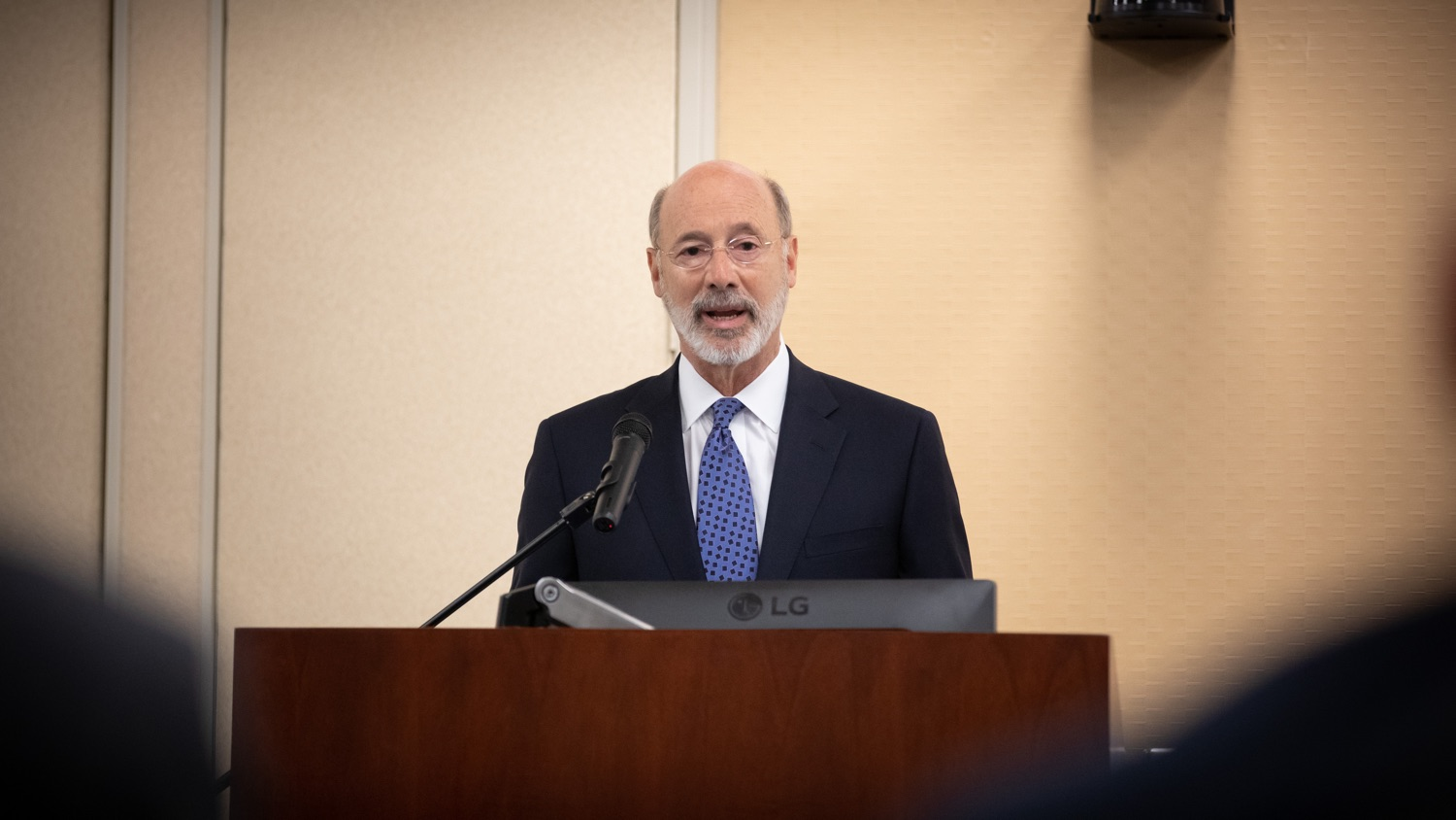 """<a href=""""https://filesource.wostreaming.net/commonwealthofpa/photo/17598_gov_charter_schools_dz_009.jpg"""" target=""""_blank"""">⇣Download Photo<br></a>Pennsylvania Governor Tom Wolf speaks about charter school reform at a meeting of the Pennsylvania Association of School Administrators.  Governor Tom Wolfs commonsense plan to improve the educational quality of charter schools and control rising costs will save nearly $280 million a year, the governor told the Pennsylvania Association of School Administrators today. The governor has a three-part plan to fix Pennsylvanias charter school law which is regarded as one of the worst in the nation.  - Harrisburg, PA. Friday, November 15, 2019."""