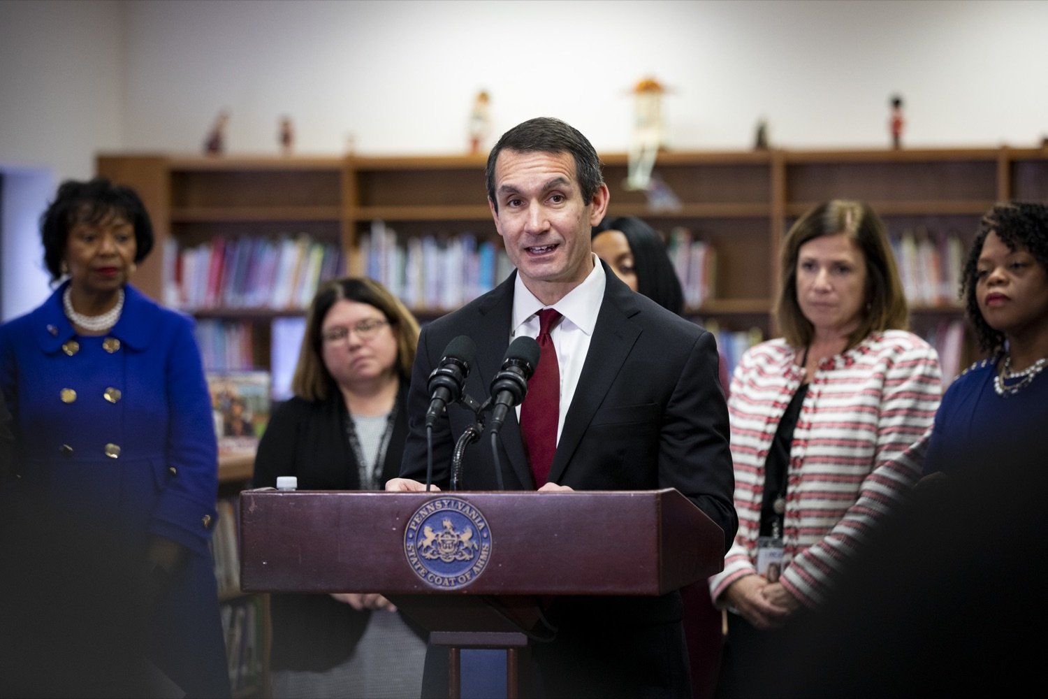 "<a href=""https://filesource.wostreaming.net/commonwealthofpa/photo/17611_AUD_GEN_HBG_AUDIT_UPDATE_CZ_09.JPG"" target=""_blank"">⇣ Download Photo<br></a>Auditor General Eugene DePasquale announces updates to the real-time audit of Harrisburg School District, applauding improvements in transparency, at Foose Elementary School in Harrisburg on November 25, 2019."