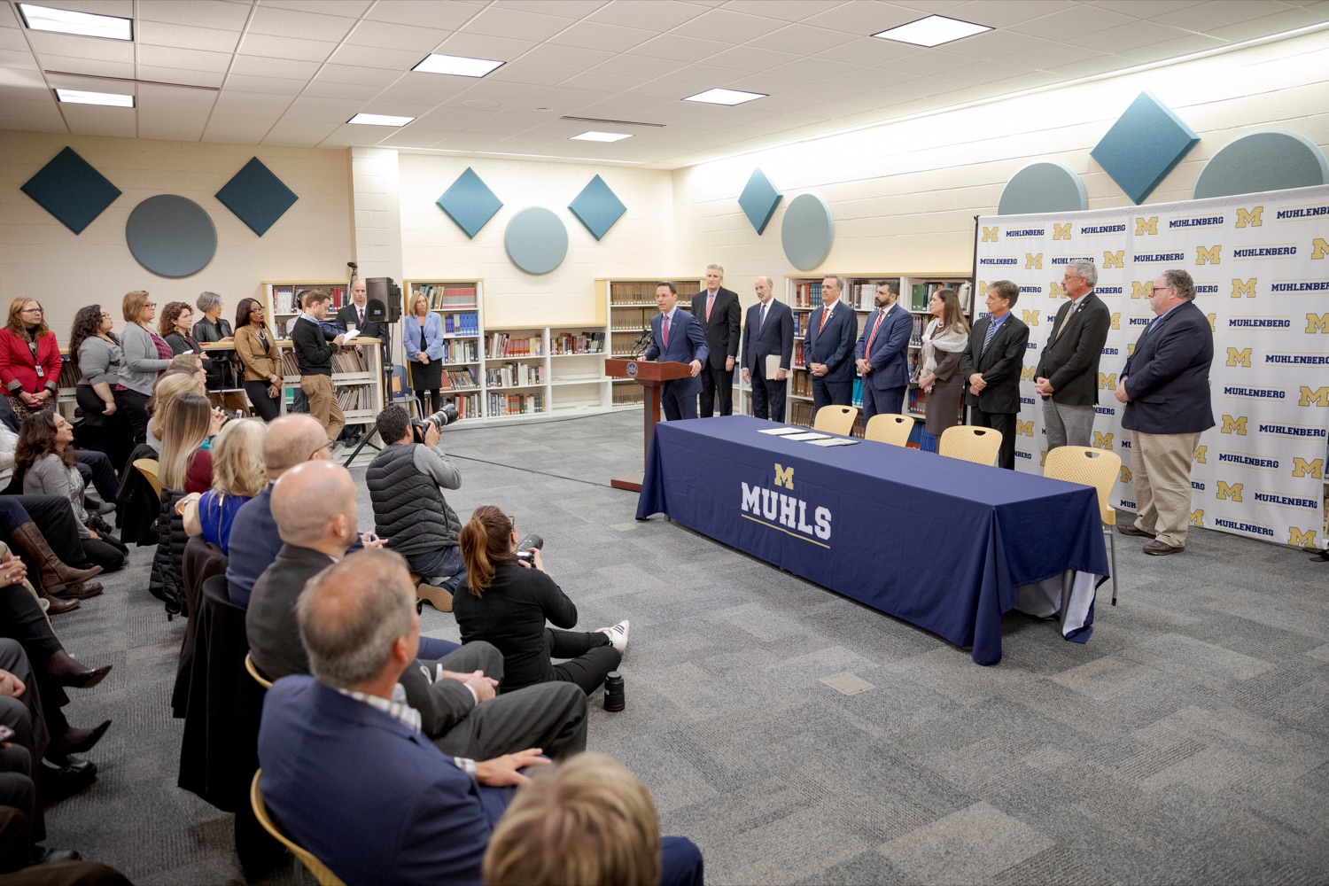 """<a href=""""https://filesource.wostreaming.net/commonwealthofpa/photo/17628_GOV_AG_Bill_Signing_NK_011.JPG"""" target=""""_blank"""">⇣Download Photo<br></a>Attorney General Josh Shapiro speaks before signing a package of three bills, which mirror three of the Grand Jurys recommendations on addressing the statute of limitations for victims of child sexual abuse, inside Muhlenberg High School on Tuesday, November 26, 2019."""
