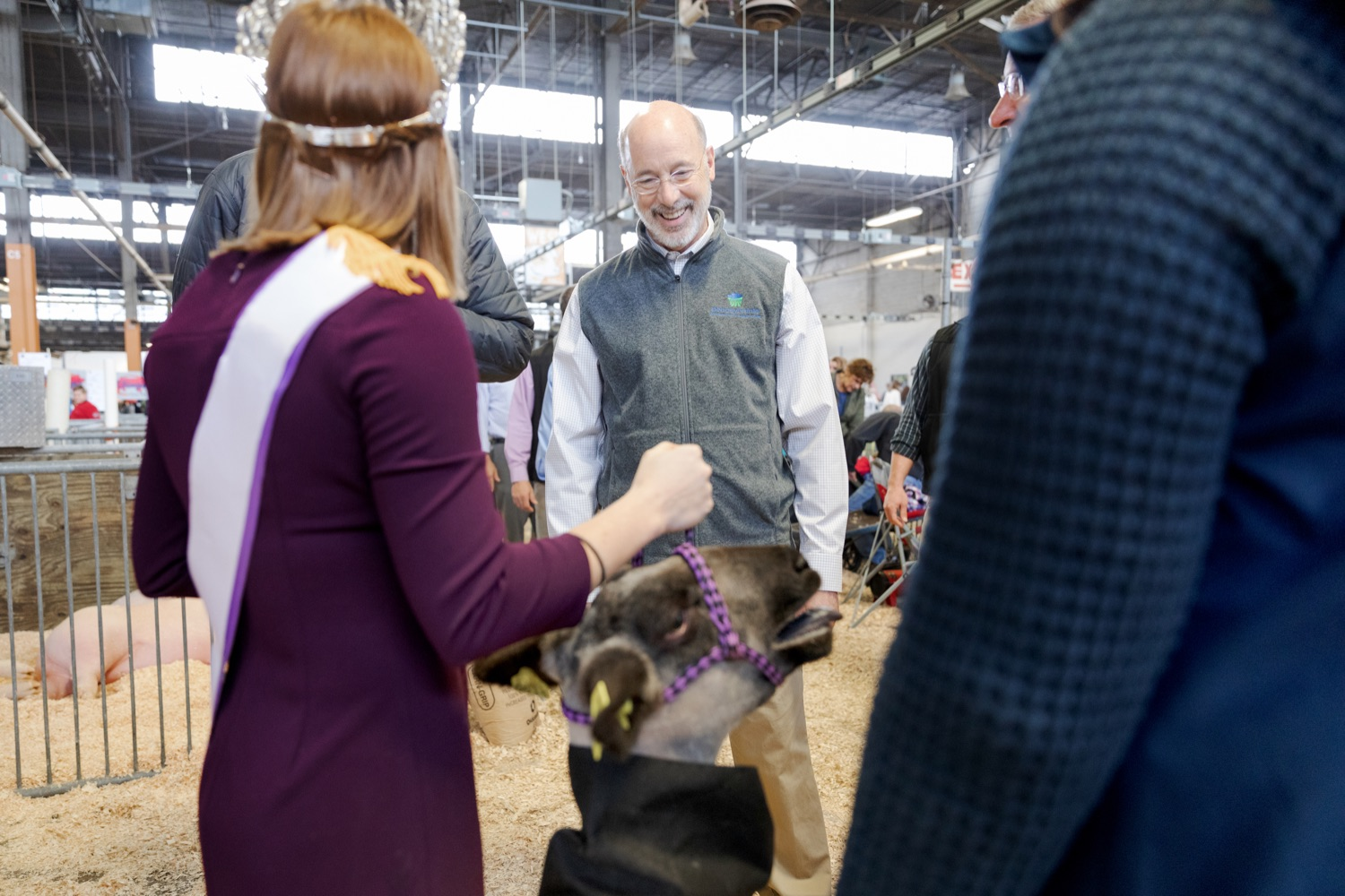 """<a href=""""https://filesource.wostreaming.net/commonwealthofpa/photo/17648_AGRIC_Opening_Ceremonies_NK_004.JPG"""" target=""""_blank"""">⇣Download Photo<br></a>Pennsylvania Governor Tom Wolf tours the west hall during the kick-off of the 2020 Pennsylvania Farm Show on Saturday, January 4, 2020."""