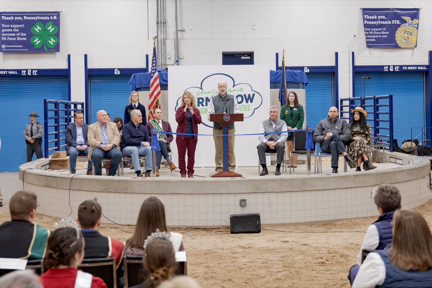 "<a href=""https://filesource.wostreaming.net/commonwealthofpa/photo/17648_AGRIC_Opening_Ceremonies_NK_011.JPG"" target=""_blank"">⇣ Download Photo<br></a>Pennsylvania Governor Tom Wolf speaks during the kick-off of the 2020 Pennsylvania Farm Show on Saturday, January 4, 2020."
