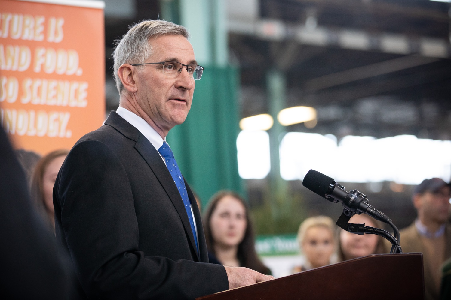 """<a href=""""https://filesource.wostreaming.net/commonwealthofpa/photo/17649_agric_youth_grant_farm_bill_dz_011.jpg"""" target=""""_blank"""">⇣Download Photo<br></a>Agriculture Secretary Russell Redding speaking at the announcement. Governor Tom Wolf today announced the approval of $500,000 in Ag and Youth Grants to fund 55 projects that will improve access to agriculture education in the commonwealth, with a goal of addressing the looming 75,000 workforce deficit Pennsylvanias agriculture industry faces in the coming decade. Harrisburg, PA  January 6, 2020"""