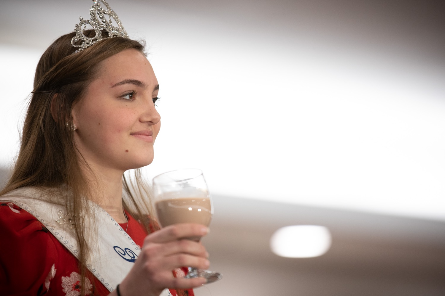 """<a href=""""https://filesource.wostreaming.net/commonwealthofpa/photo/17650_agric_public_officials_day_dz_003.jpg"""" target=""""_blank"""">⇣Download Photo<br></a>Paige Peiffer PA Dairy Princess offering up the Milk Toast at Public Officials Day.  Addressing nearly 800 public officials at the Pennsylvania Farm Show today, Agriculture Secretary Russell Redding announced the opening of the last grant program made possible by the 2019 PA Farm Bill. The $1 million Farm Vitality Grant Program aims to enhance the long-term health and vitality of Pennsylvanias family farms. Harrisburg, PA  January 08, 2020"""