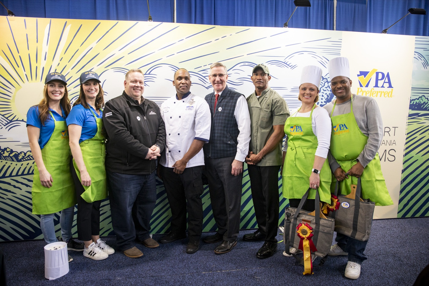 "<a href=""https://filesource.wostreaming.net/commonwealthofpa/photo/17651_AGRIC_ARMY_NAVY_COOKOFF_CZ_03.jpg"" target=""_blank"">⇣ Download Photo<br></a>Competitors from the 2020 Army vs. Navy Cook-Off pose with Secretary Russell Redding at the Farm Show Complex in Harrisburg on January 9, 2020."