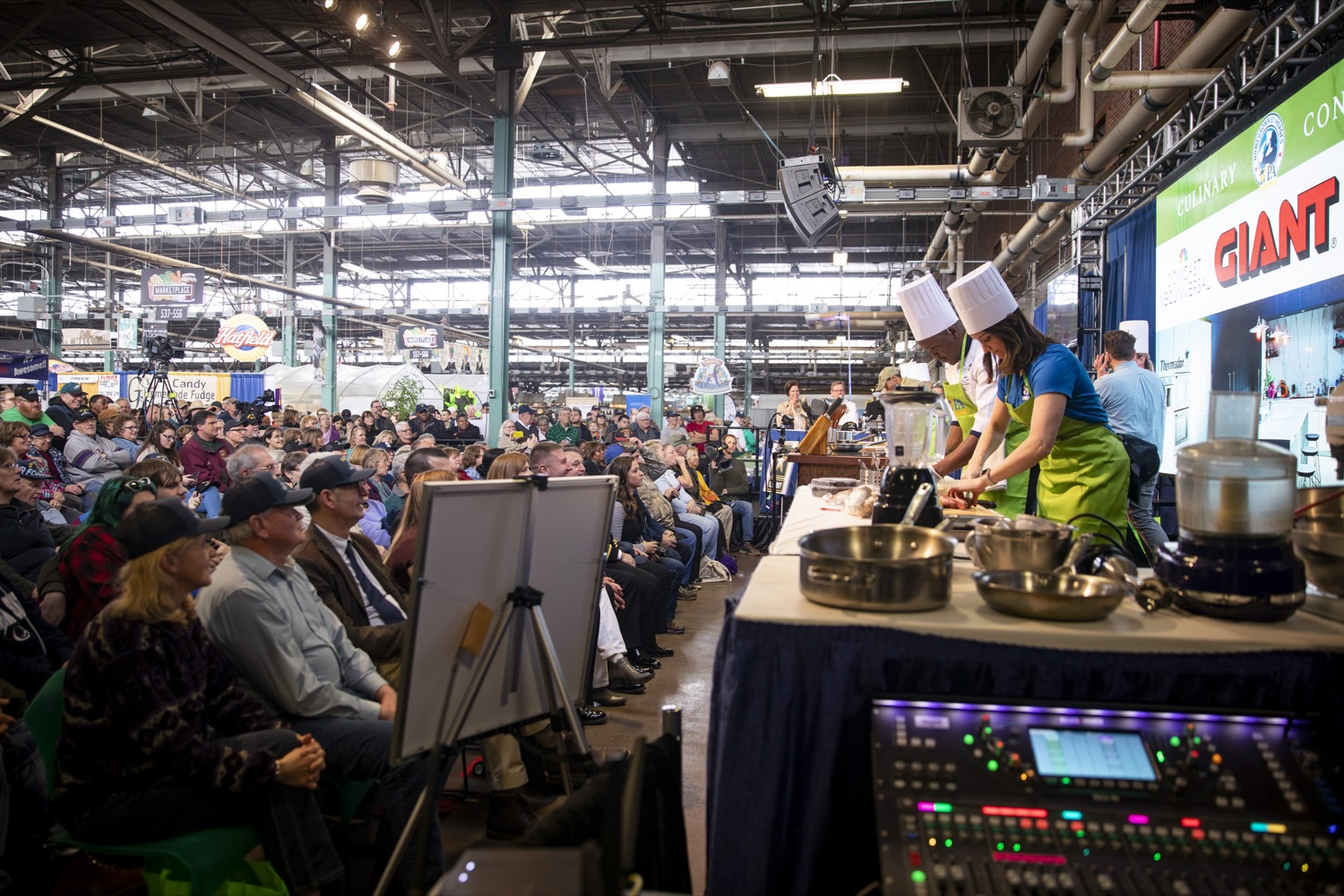 "<a href=""https://filesource.wostreaming.net/commonwealthofpa/photo/17651_AGRIC_ARMY_NAVY_COOKOFF_CZ_04.jpg"" target=""_blank"">⇣ Download Photo<br></a>Audiences packed the Culinary Connection stage to watch the 2020 Army vs. Navy Cook-Off in Harrisburg on January 9, 2020."