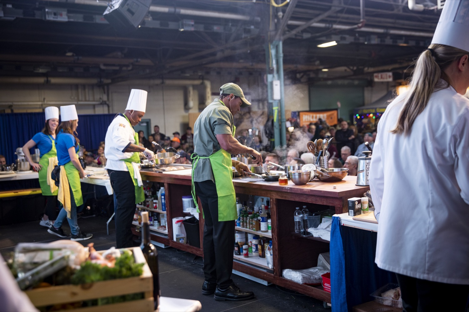 "<a href=""https://filesource.wostreaming.net/commonwealthofpa/photo/17651_AGRIC_ARMY_NAVY_COOKOFF_CZ_10.jpg"" target=""_blank"">⇣ Download Photo<br></a>Culinary Specialist First Class Marlon ONeil Haughton and Sergeant Pete O. Linton, Advanced Culinary NCO of the Army, compete in the 2020 Army vs. Navy Cook-Off in Harrisburg on January 9, 2020."