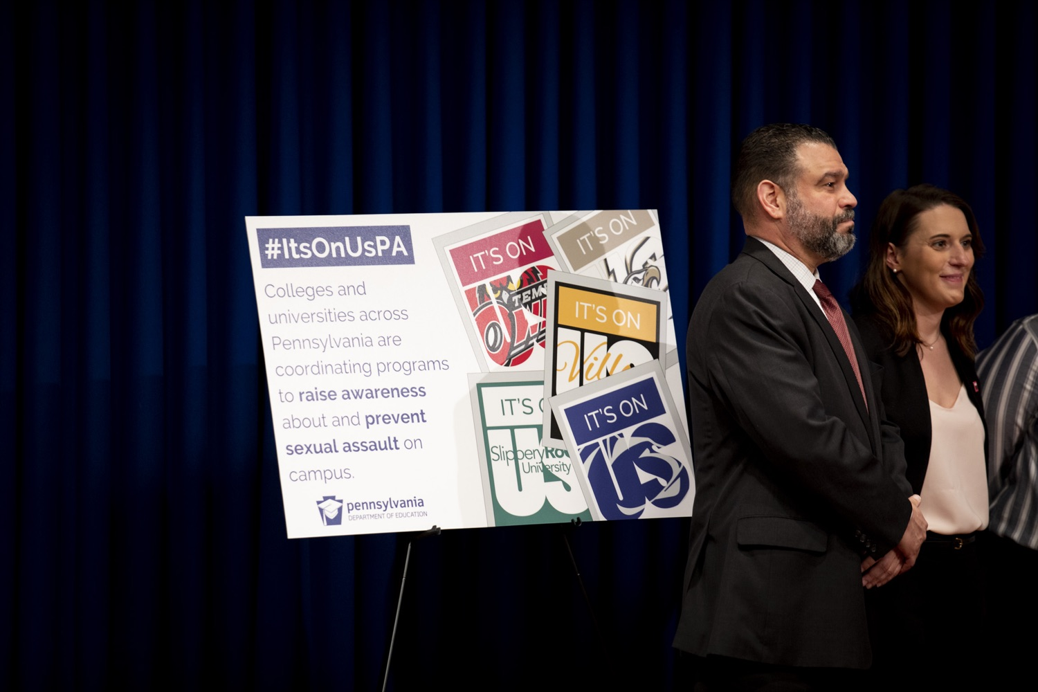"<a href=""https://filesource.wostreaming.net/commonwealthofpa/photo/17692_pde_ItsOnUs_CZ_10.JPG"" target=""_blank"">⇣ Download Photo<br></a>Secretary Pedro Rivera announces nearly $1 Million in grants from the Wolf Administration to combat campus sexual assault at 36 colleges and universities across Pennsylvania, at the Harrisburg Capitol on January 16, 2020."