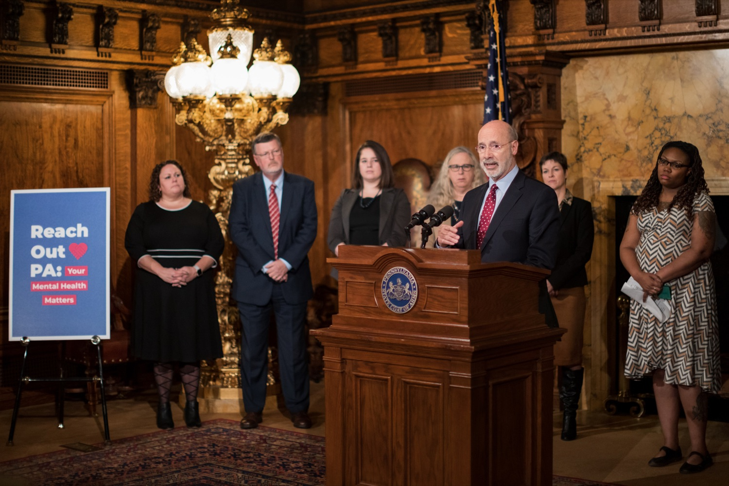 "<a href=""https://filesource.wostreaming.net/commonwealthofpa/photo/17694_GOV_Mental_Health_NK_005.JPG"" target=""_blank"">⇣ Download Photo<br></a>Pennsylvania Governor Tom Wolf speaks during a press conference inside the Governor's Reception Room at the State Capitol building in Harrisburg on Thursday, January 2, 2020. Governor Wolf announced a focused all-agency effort and anti-stigma campaign, Reach Out PA: Your Mental Health Matters, aimed at expanding resources and the states comprehensive support of mental health and related health care priorities in Pennsylvania."