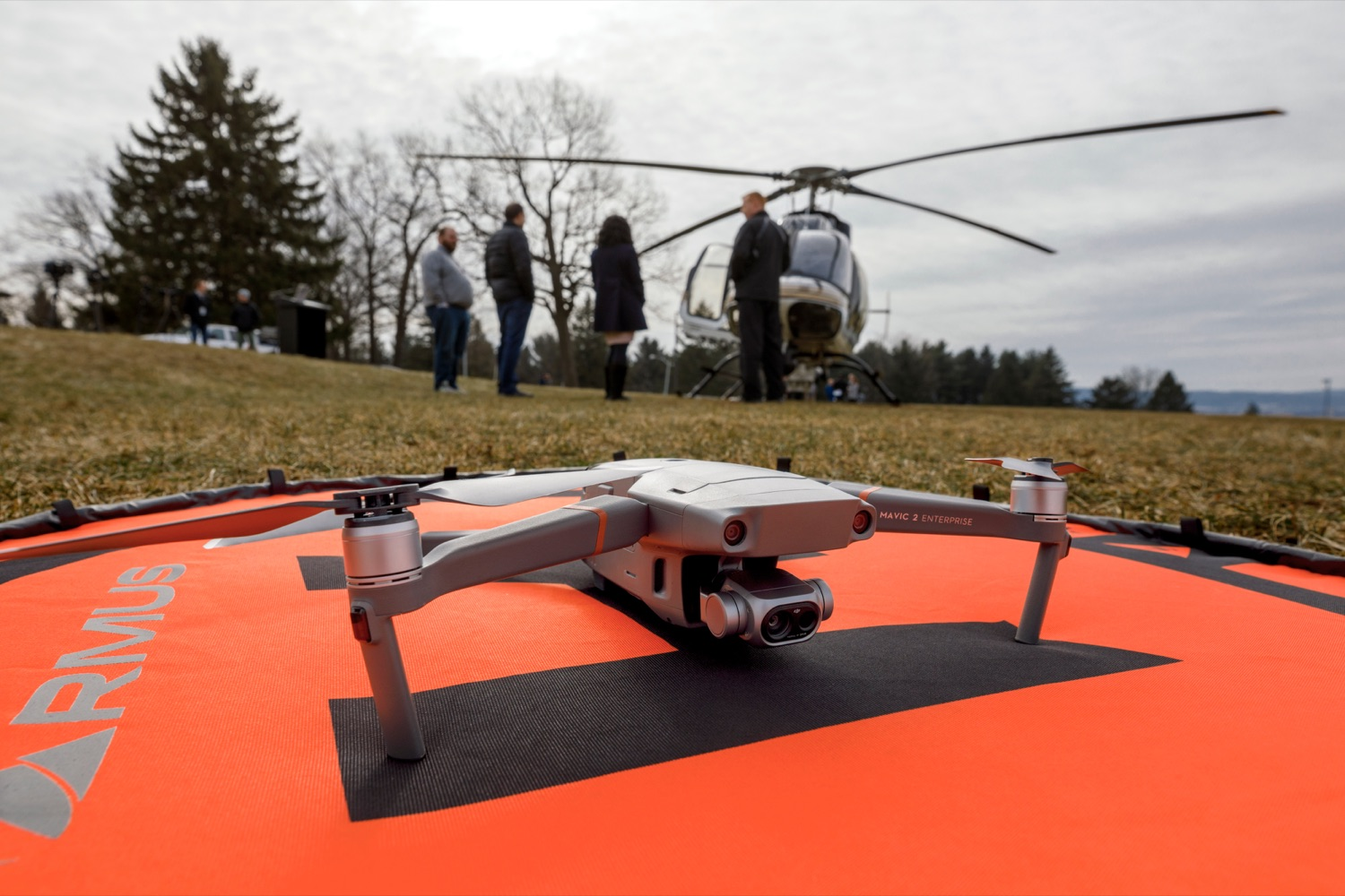 "<a href=""https://filesource.wostreaming.net/commonwealthofpa/photo/17706_DOH_Drone_Safety_NK_006.JPG"" target=""_blank"">⇣ Download Photo<br></a>A drone is pictured before a press conference, which highlighted the danger drones pose to helicopters in emergency situations, at the Pennsylvania State Police Academy in Hershey on Friday, January 31, 2020."