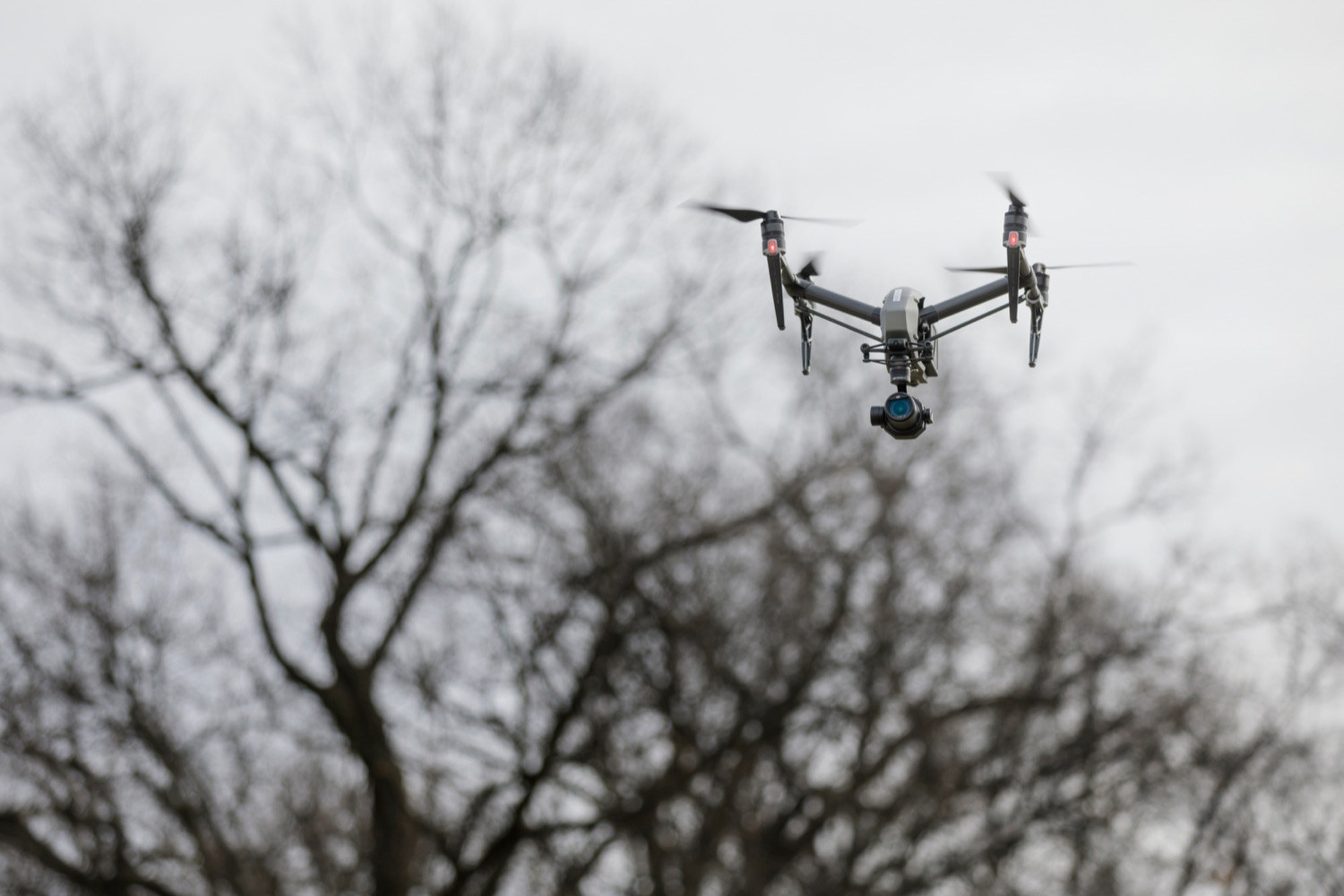 "<a href=""https://filesource.wostreaming.net/commonwealthofpa/photo/17706_DOH_Drone_Safety_NK_008.JPG"" target=""_blank"">⇣ Download Photo<br></a>A drone hovers in the air following a press conference, which highlighted the danger drones pose to helicopters in emergency situations, at the Pennsylvania State Police Academy in Hershey on Friday, January 31, 2020."