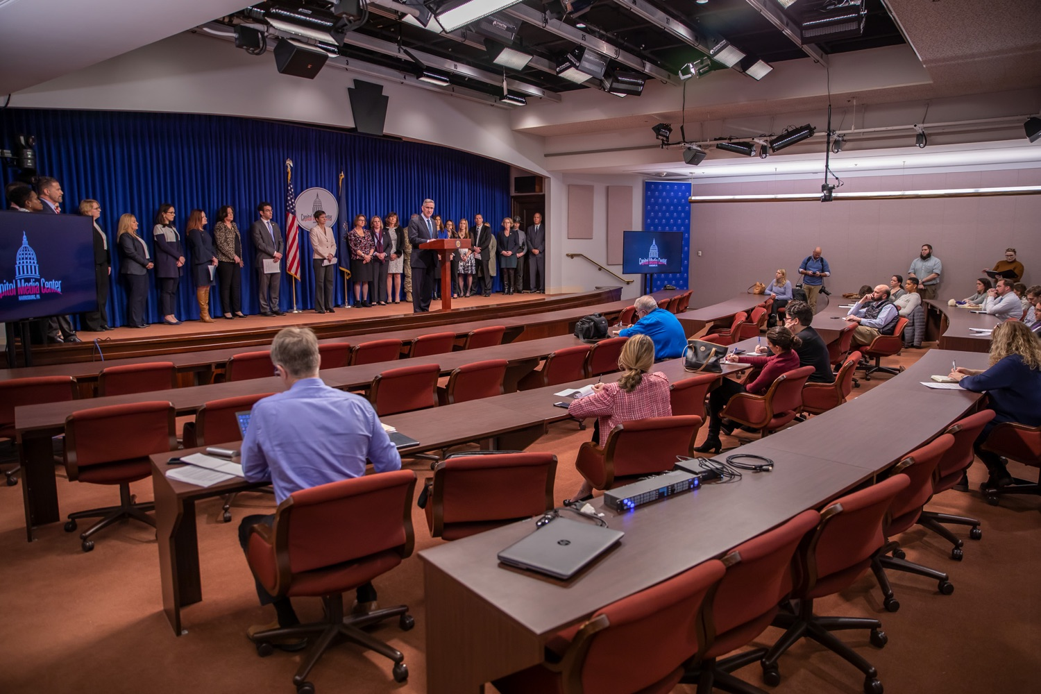 """<a href=""""https://filesource.wostreaming.net/commonwealthofpa/photo/17711_DHS_SuicidePrevention_AG_07.jpg"""" target=""""_blank"""">⇣Download Photo<br></a>Harrisburg, PA.  Russell Redding, Secretary of the Department of Agriculture, discusses the initial report of Pennsylvanias Suicide Prevention Task Force based on the statewide listening sessions held throughout fall 2019. The work of the Suicide Prevention Task Force is a complement to the goals and strategies surrounding the governors Reach Out PA: Your Mental Health Matters initiative announced earlier this month and his Executive Order to protect vulnerable populations signed last year.  January 14, 2020."""