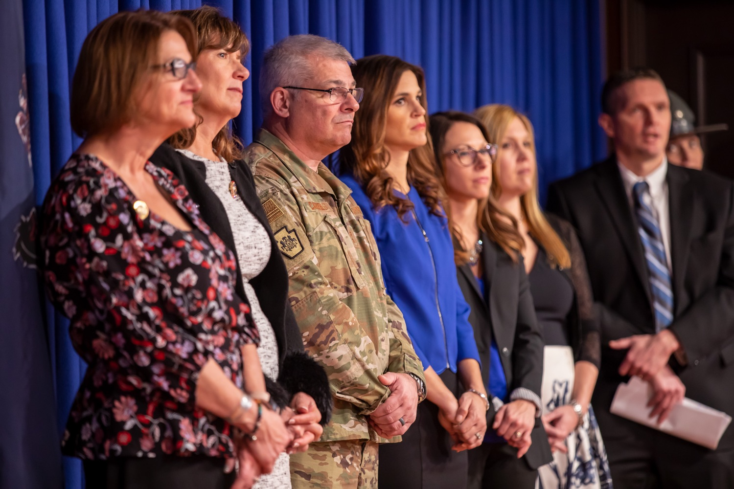 """<a href=""""https://filesource.wostreaming.net/commonwealthofpa/photo/17711_DHS_SuicidePrevention_AG_11.jpg"""" target=""""_blank"""">⇣Download Photo<br></a>Harrisburg, PA.  Governor Tom Wolf today announced the initial report of Pennsylvanias Suicide Prevention Task Force based on the statewide listening sessions held throughout fall 2019. The work of the Suicide Prevention Task Force is a complement to the goals and strategies surrounding the governors Reach Out PA: Your Mental Health Matters initiative announced earlier this month and his Executive Order to protect vulnerable populations signed last year.  January 14, 2020."""