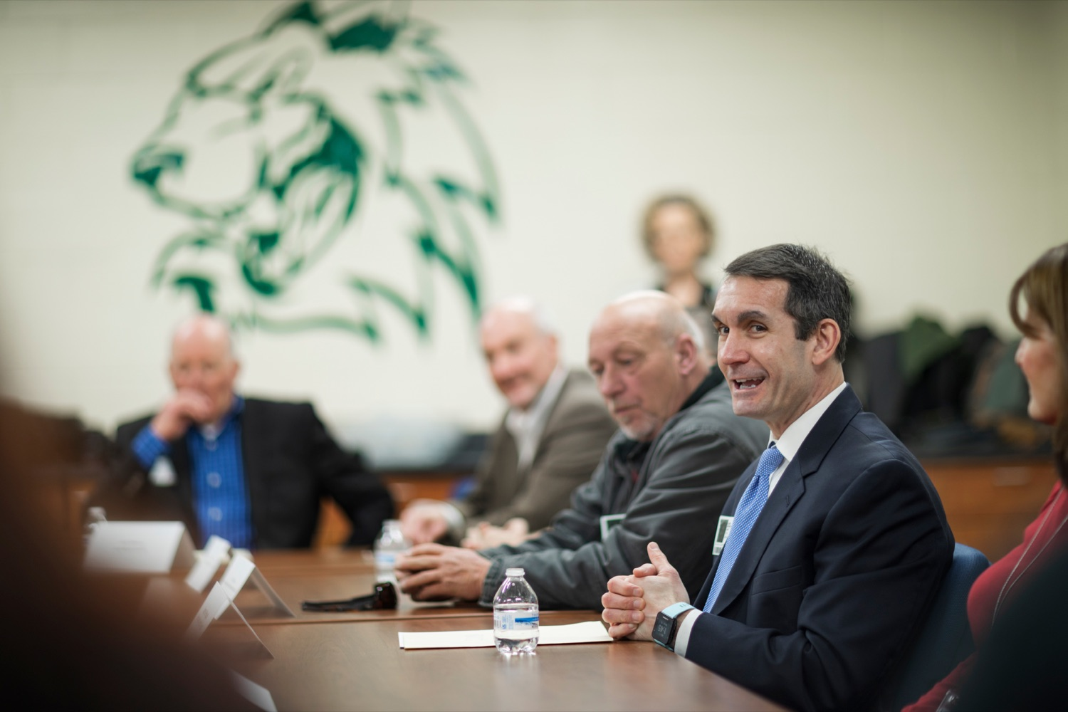 """<a href=""""https://filesource.wostreaming.net/commonwealthofpa/photo/17719_AUD_GEN_Tech_School_NK_012.JPG"""" target=""""_blank"""">⇣Download Photo<br></a>Auditor General Eugene DePasquale speaks inside Dauphin County Technical School during a roundtable discussion inside the school on Wednesday, January 15, 2020."""