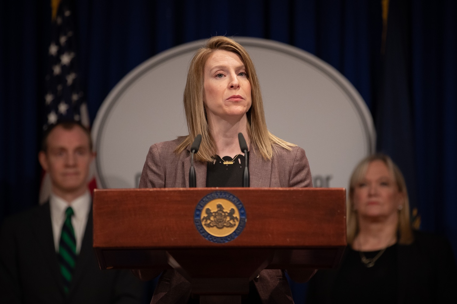 "<a href=""https://filesource.wostreaming.net/commonwealthofpa/photo/17725_dobs_investingwomen_dz_003.jpg"" target=""_blank"">⇣ Download Photo<br></a>Julie Bancroft, Chief Public Affairs Officer of the Pennsylvania Coalition Against Domestic Violence (PCADV) speaking at the announcement in the Capitol Media Center. Pennsylvania Department of Banking and Securities Secretary Robin L. Wiessmann today announced Investing in Women, an initiative aimed at providing women with important information about banking, credit, saving and investing, while offering practical resources to navigate their finances. The secretary was joined at a Capitol news conference by .Julie Bancroft, Chief Public Affairs Officer of the Pennsylvania Coalition Against Domestic Violence (PCADV).  .Harrisburg, PA - January 15, 2020."