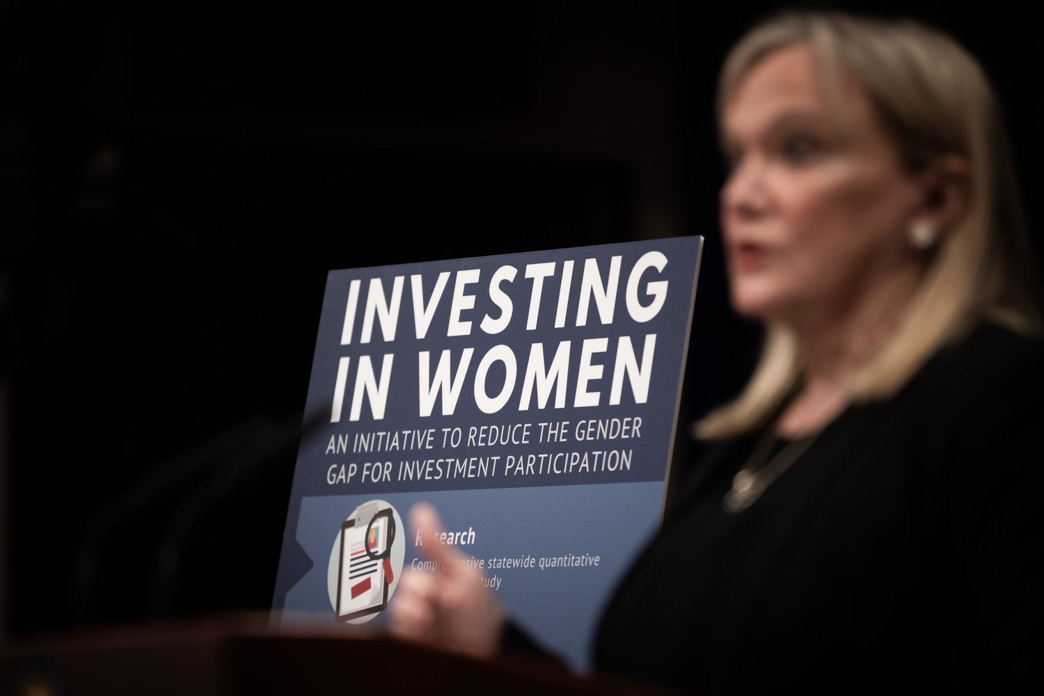 "<a href=""https://filesource.wostreaming.net/commonwealthofpa/photo/17725_dobs_investingwomen_dz_005.jpg"" target=""_blank"">⇣ Download Photo<br></a>Department of Banking and Securities Secretary Robin L. Wiessmann speaking at the announcement in the Capitol Media Center. Pennsylvania Department of Banking and Securities Secretary Robin L. Wiessmann today announced Investing in Women, an initiative aimed at providing women with important information about banking, credit, saving and investing, while offering practical resources to navigate their finances. The secretary was joined at a Capitol news conference by .Julie Bancroft, Chief Public Affairs Officer of the Pennsylvania Coalition Against Domestic Violence (PCADV).  .Harrisburg, PA - January 15, 2020."