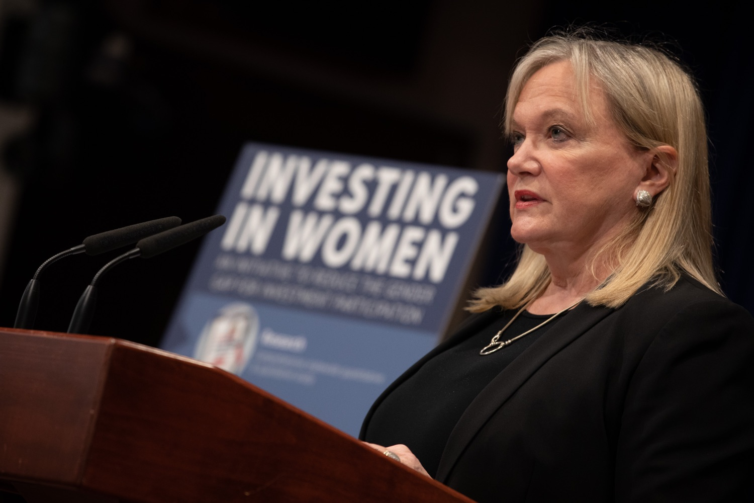 "<a href=""https://filesource.wostreaming.net/commonwealthofpa/photo/17725_dobs_investingwomen_dz_011.jpg"" target=""_blank"">⇣ Download Photo<br></a>Department of Banking and Securities Secretary Robin L. Wiessmann speaking at the announcement in the Capitol Media Center. Pennsylvania Department of Banking and Securities Secretary Robin L. Wiessmann today announced Investing in Women, an initiative aimed at providing women with important information about banking, credit, saving and investing, while offering practical resources to navigate their finances. The secretary was joined at a Capitol news conference by .Julie Bancroft, Chief Public Affairs Officer of the Pennsylvania Coalition Against Domestic Violence (PCADV).  .Harrisburg, PA - January 15, 2020."