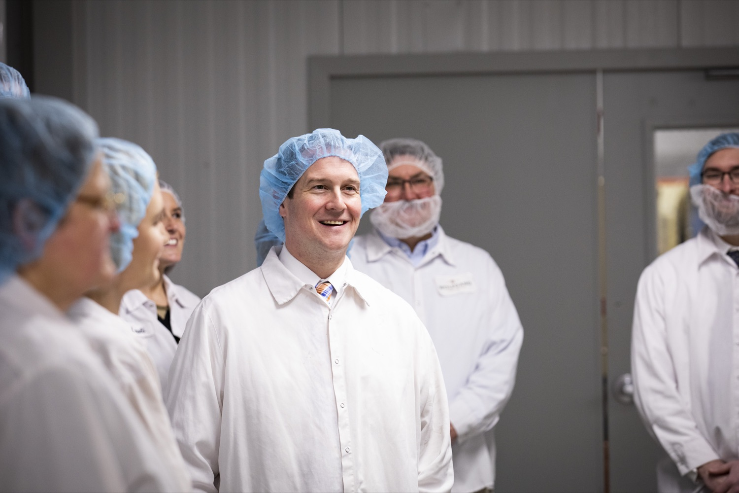 """<a href=""""https://filesource.wostreaming.net/commonwealthofpa/photo/17740_DCED_WOLFGANG_TOUR_CZ_13.JPG"""" target=""""_blank"""">⇣Download Photo<br></a>DCED Executive Deputy Secretary Neil Weaver tours the Wolfgang Confectioners plant in York County on February 13, 2020."""