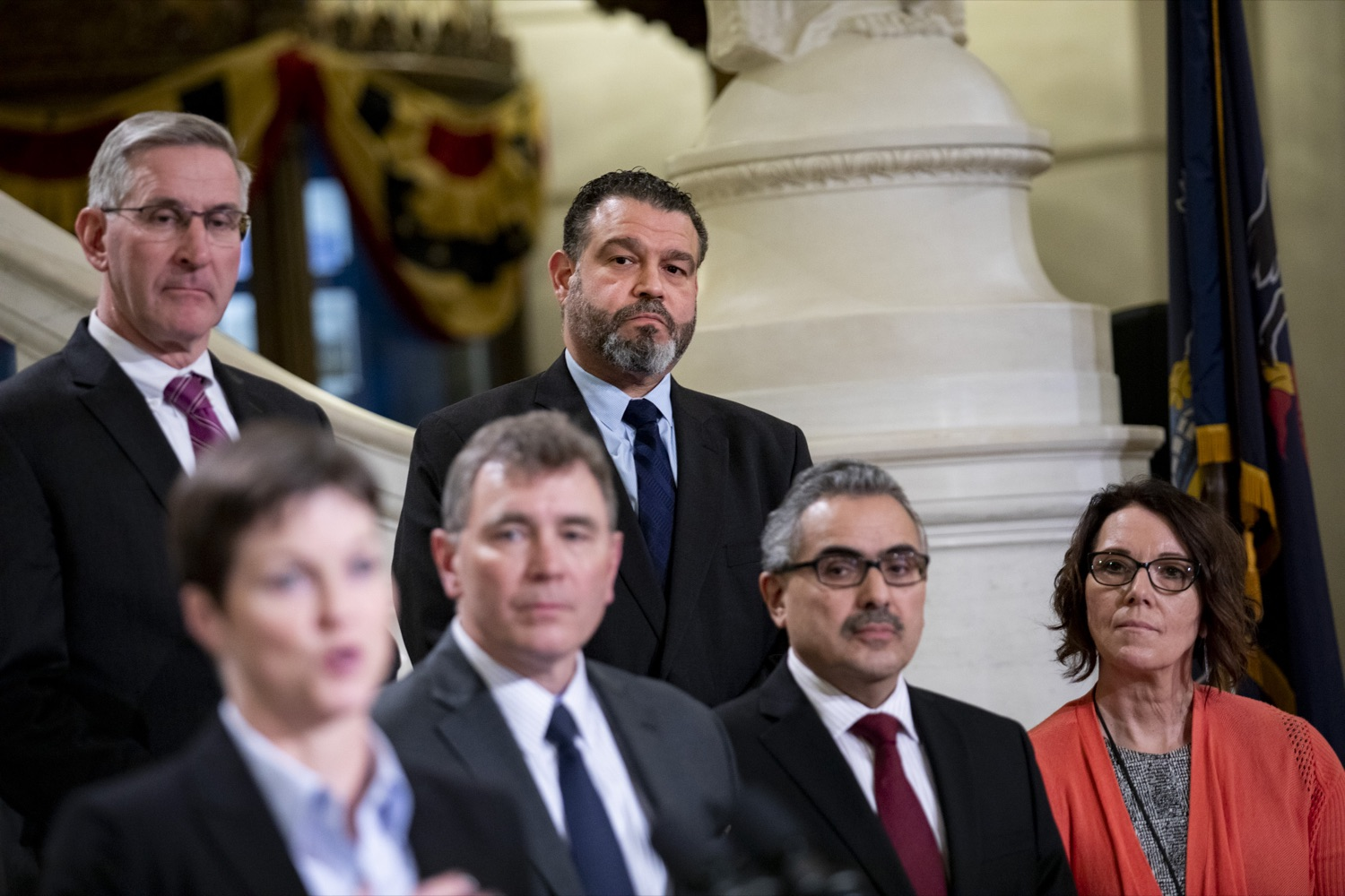 """<a href=""""https://filesource.wostreaming.net/commonwealthofpa/photo/17757_dhs_snap_cz_06.JPG"""" target=""""_blank"""">⇣Download Photo<br></a>Secretary of Education Pedro Rivera shows his support for SNAP, which helps to protect free and reduced-priced lunches for Pennsylvania's students, at the Harrisburg Capitol on February 19, 2020."""