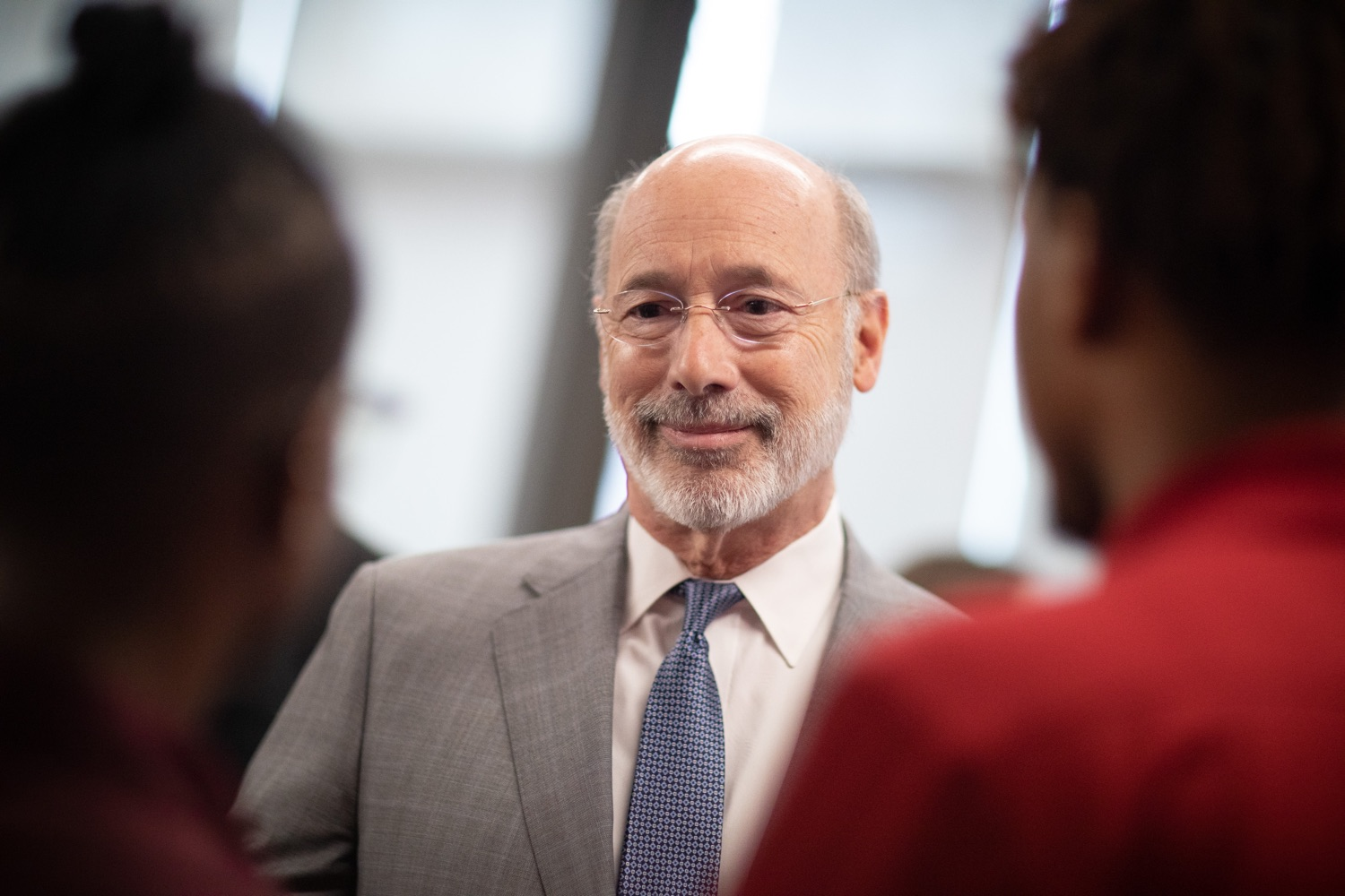 """<a href=""""https://filesource.wostreaming.net/commonwealthofpa/photo/17763_gov_highered_dz_005.jpg"""" target=""""_blank"""">⇣Download Photo<br></a>Governor Tom Wolf speaks to students at Lock Haven University.  Governor Tom Wolf visited Lock Haven University today to launch a tour of the 14 state-owned universities and discuss his proposal to help thousands of low- and middle-class students afford their dream of a college education. Lock Haven, PA  February 12, 2020"""