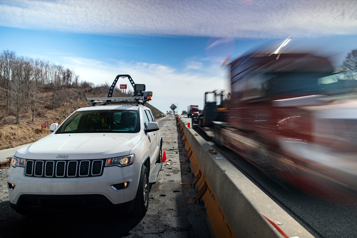 """<a href=""""https://filesource.wostreaming.net/commonwealthofpa/photo/17774_PennDOT_AWZSE_NK_002.JPG"""" target=""""_blank"""">⇣Download Photo<br></a>Pennsylvanias AWZSE program uses vehicle-mounted systems to detect and record motorists exceeding posted work zone speed limits by 11 miles per hour or more using electronic speed timing devices. AWZSE systems are only operational in active work zones where workers are present. Beginning today, registered owners will receive a warning letter for a first offense, a violation notice and $75 fine for a second offense, and a violation notice and $150 fine for third and subsequent offenses. These violations are civil penalties only; no points will be assessed to drivers licenses."""
