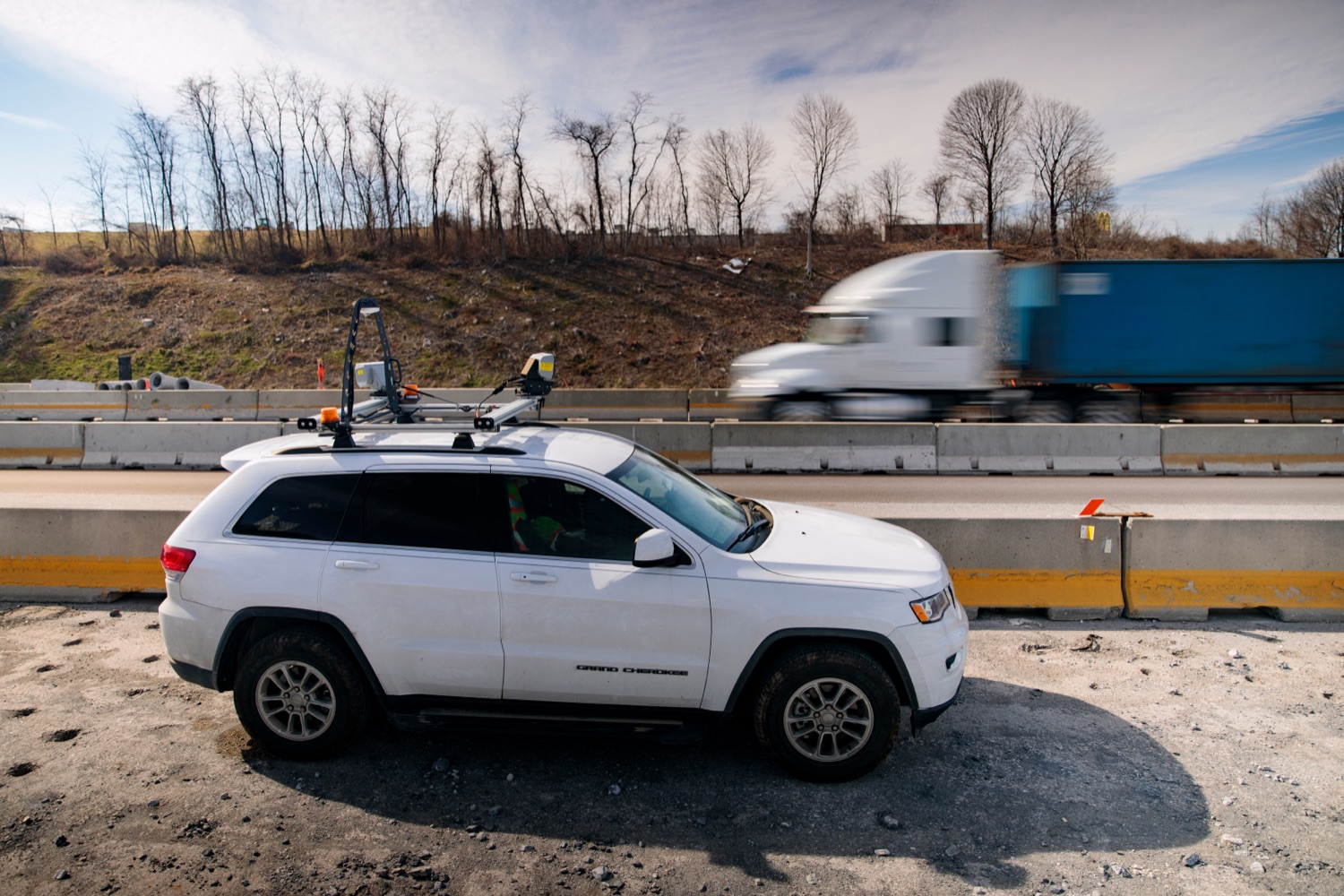 """<a href=""""https://filesource.wostreaming.net/commonwealthofpa/photo/17774_PennDOT_AWZSE_NK_003.JPG"""" target=""""_blank"""">⇣Download Photo<br></a>Pennsylvanias AWZSE program uses vehicle-mounted systems to detect and record motorists exceeding posted work zone speed limits by 11 miles per hour or more using electronic speed timing devices. AWZSE systems are only operational in active work zones where workers are present. Beginning today, registered owners will receive a warning letter for a first offense, a violation notice and $75 fine for a second offense, and a violation notice and $150 fine for third and subsequent offenses. These violations are civil penalties only; no points will be assessed to drivers licenses."""